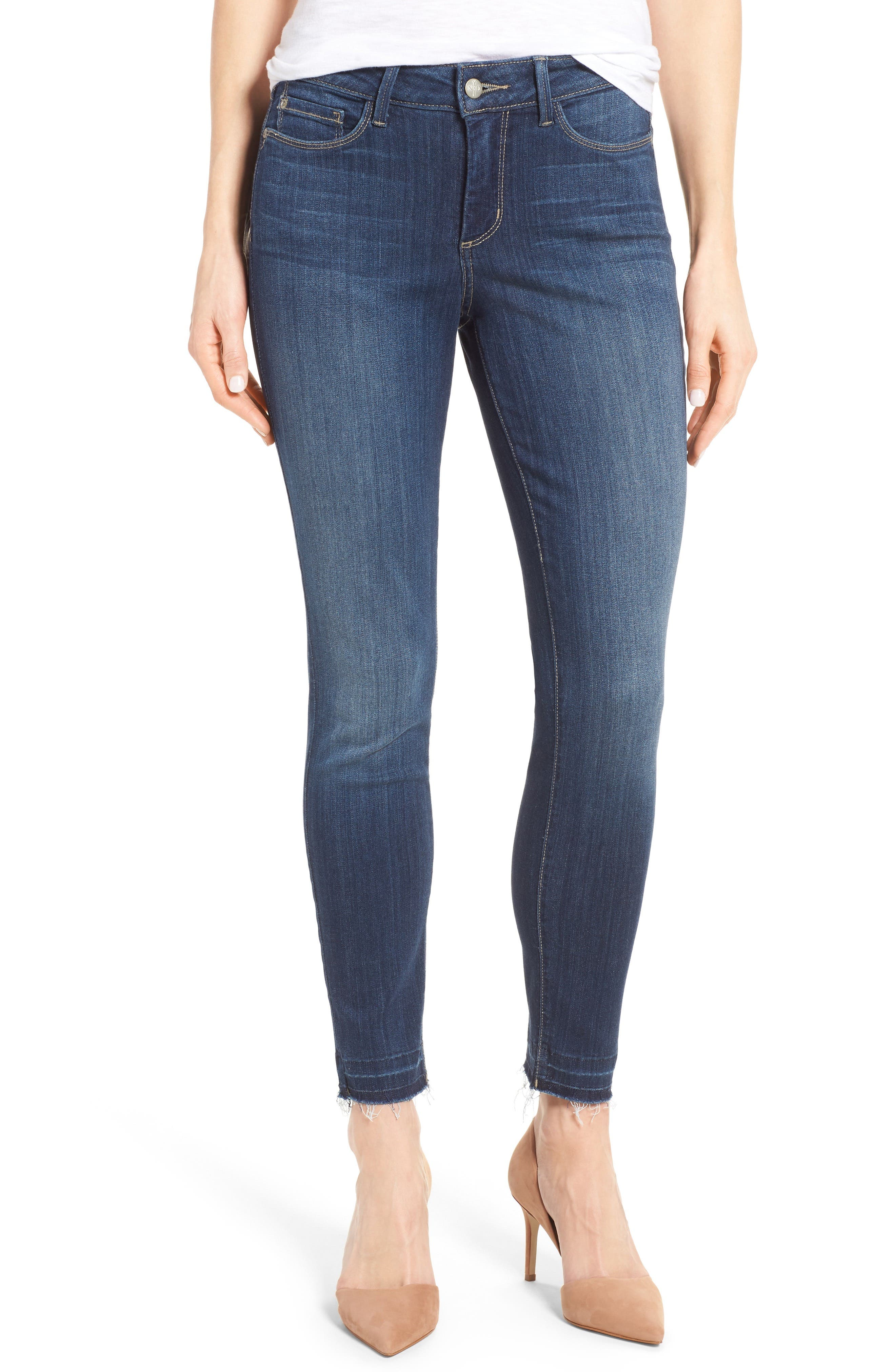 Ami Release Hem Stretch Skinny Jeans,                             Main thumbnail 1, color,                             428
