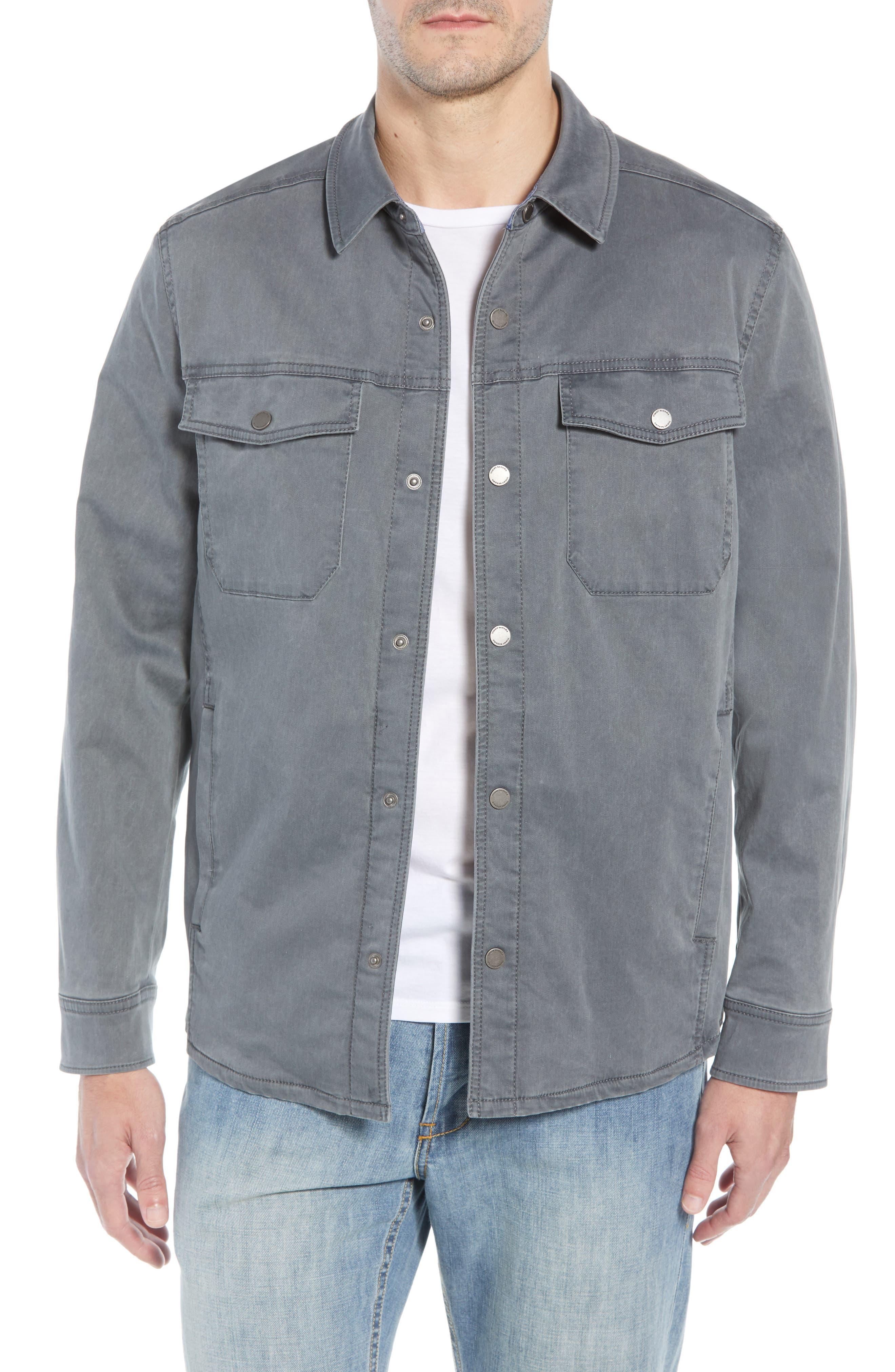 Boracay Regular Fit Shirt Jacket,                             Main thumbnail 1, color,                             FOG GREY