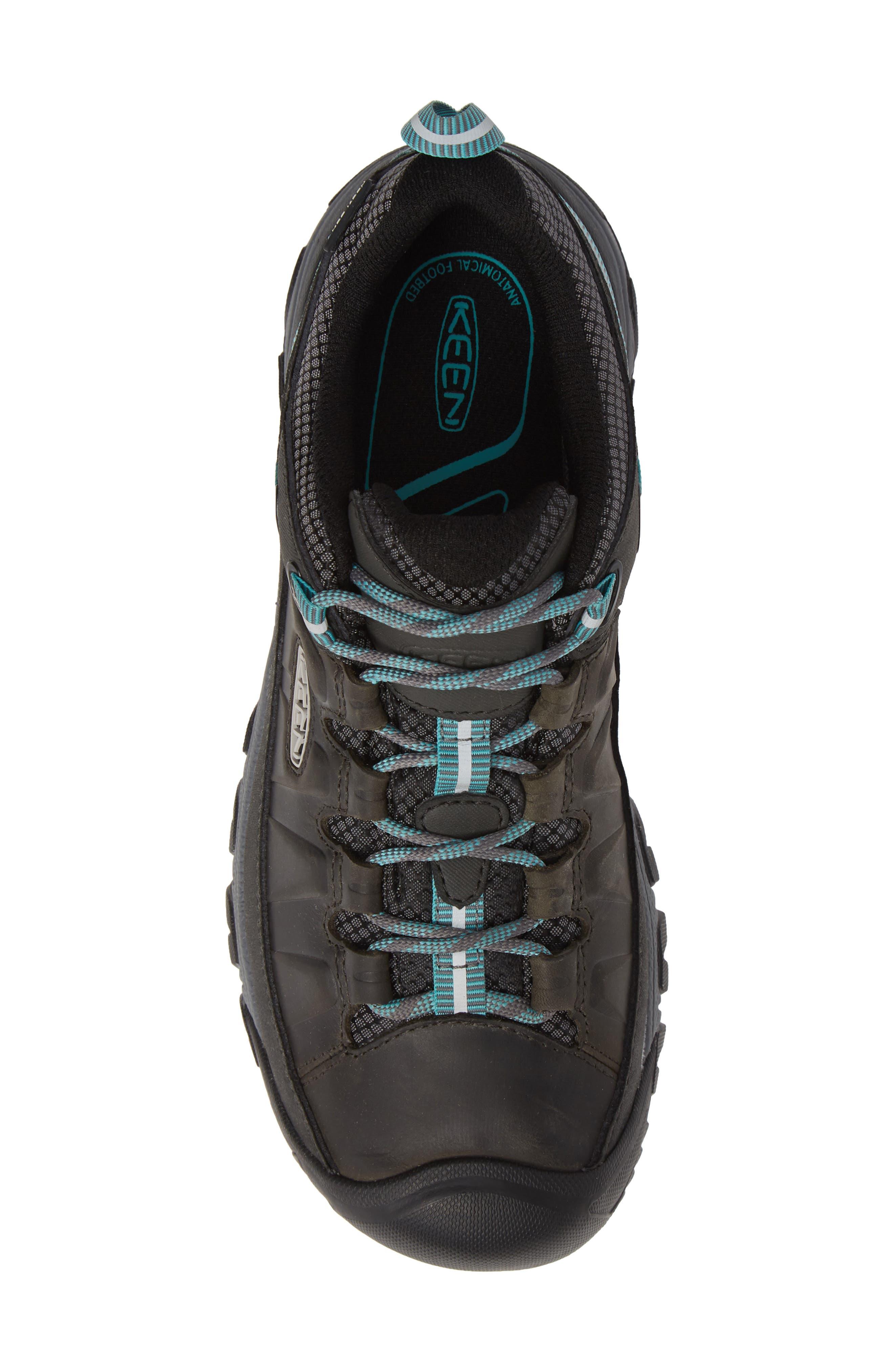 Targhee III Waterproof Hiking Shoe,                             Alternate thumbnail 5, color,                             ALCATRAZ/ TURQUOISE LEATHER