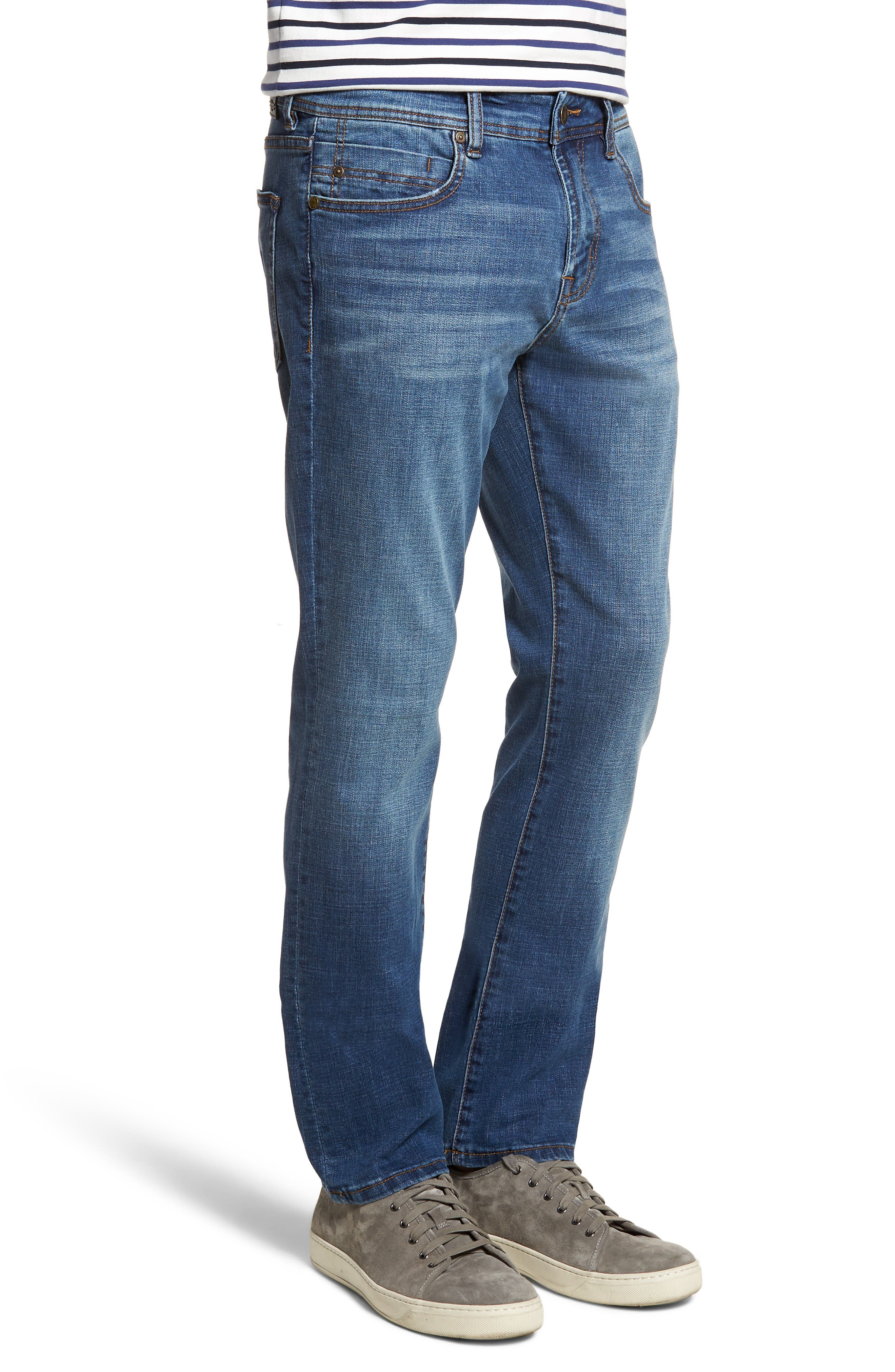 Jeans Co. Kingston Slim Straight Leg Jeans,                             Alternate thumbnail 3, color,                             HIGHLANDER MID