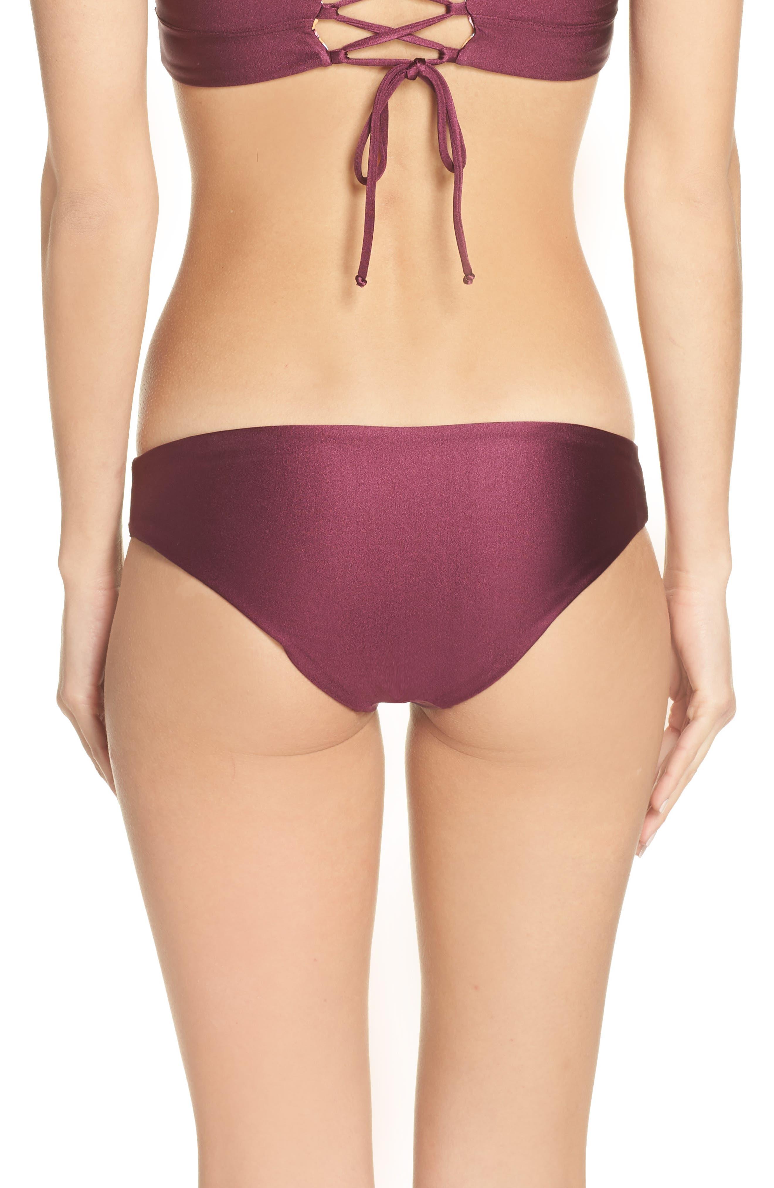 Beach Plum Sublime Reversible Bikini Bottoms,                             Alternate thumbnail 3, color,                             BEACH PLUM