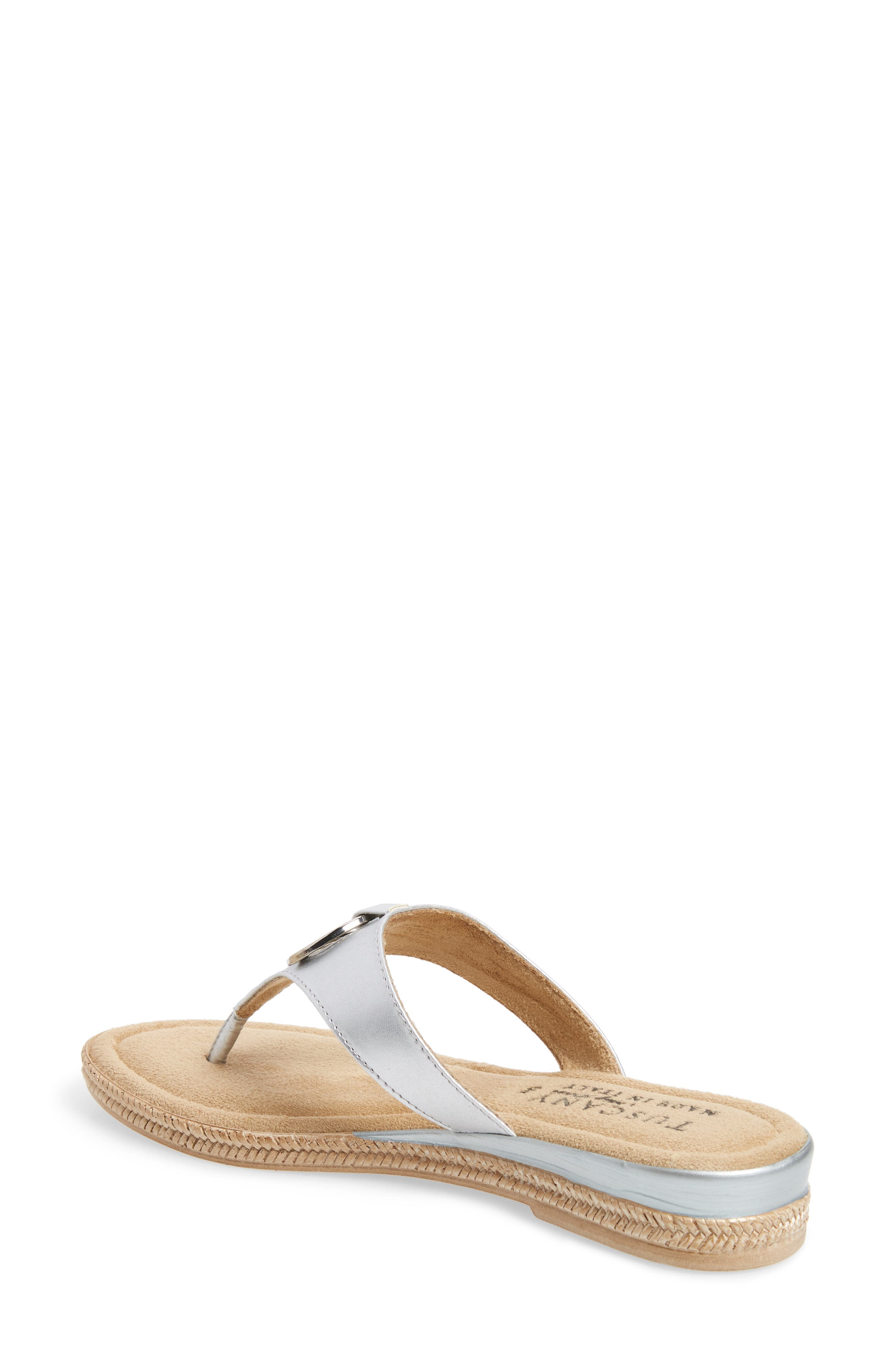by Easy Street<sup>®</sup> Belinda Flip Flop,                             Alternate thumbnail 2, color,                             SILVER FAUX LEATHER