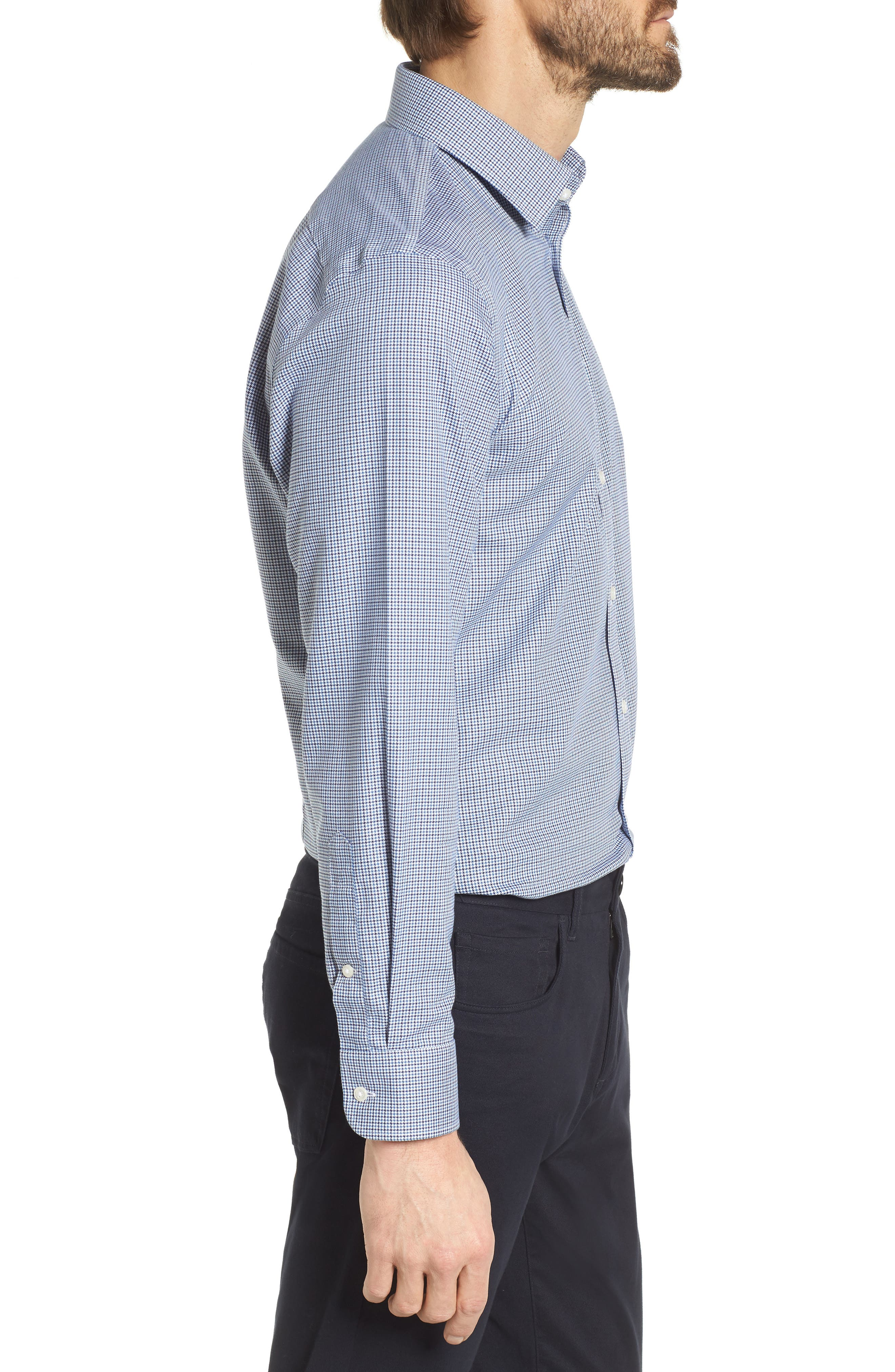 Smartcare<sup>™</sup> Extra Trim Fit Houndstooth Dress Shirt,                             Alternate thumbnail 4, color,                             410