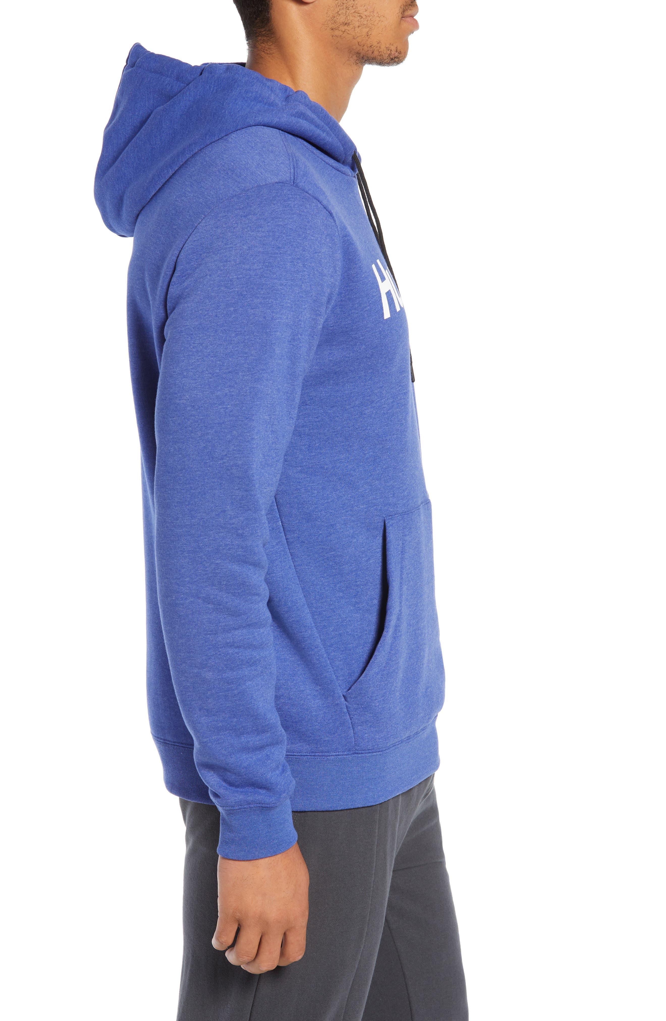 Surf Check Hoodie Sweatshirt,                             Alternate thumbnail 3, color,                             DEEP ROYAL HEATHER/ WHITE