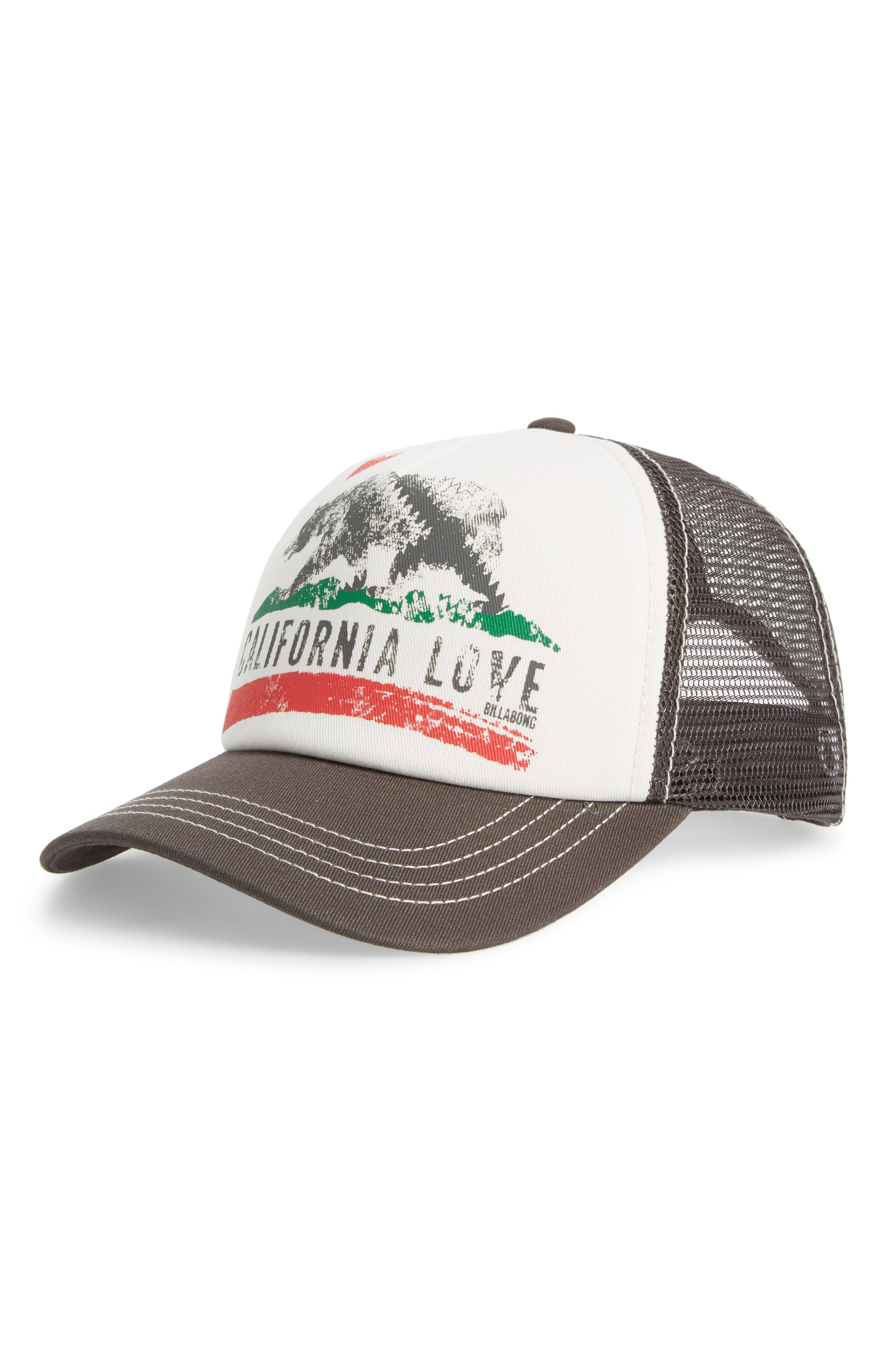 Pitstop Trucker Hat,                         Main,                         color, CHARCOAL