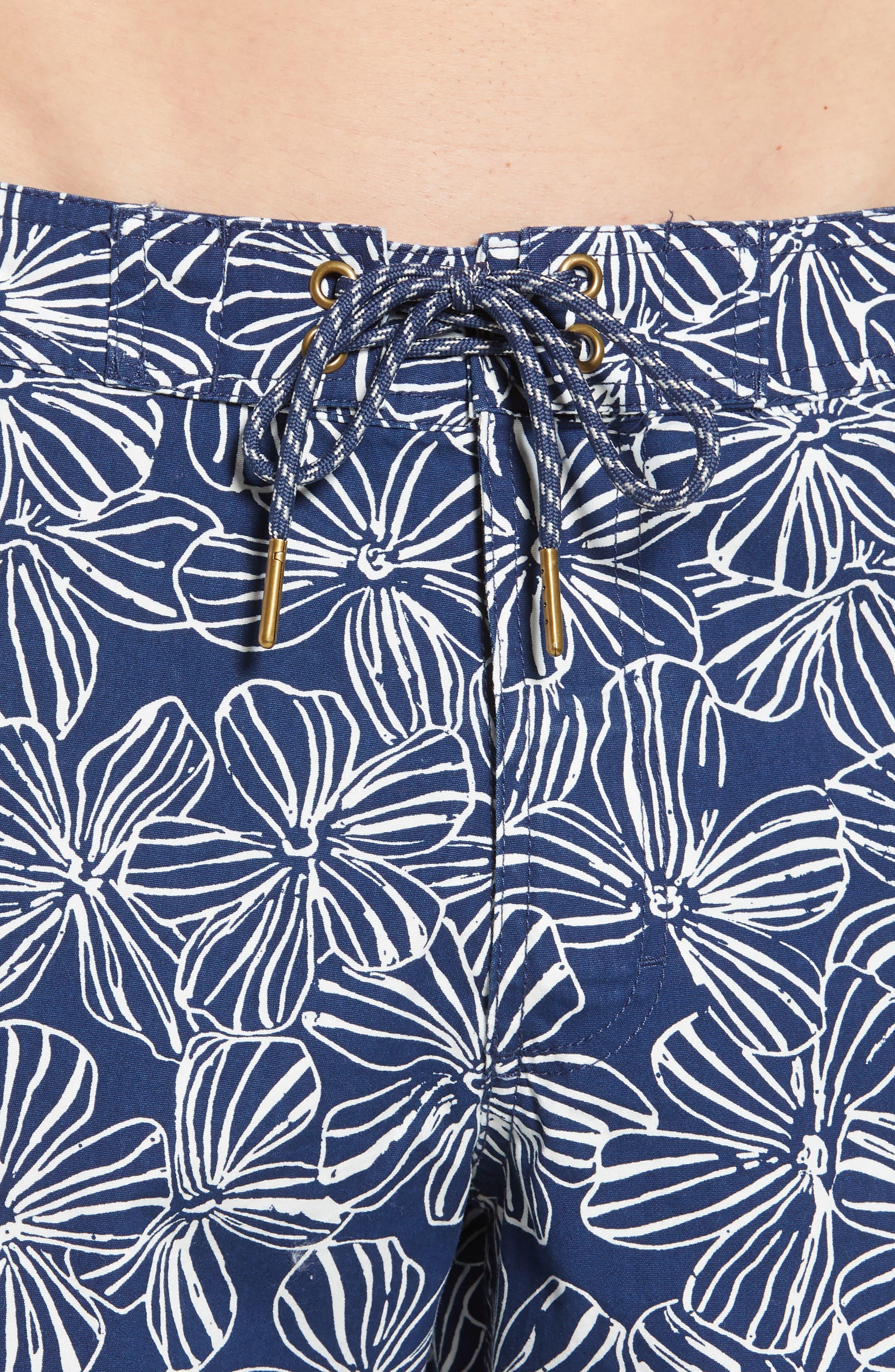 Mala Melia Regular Fit Board Shorts,                             Alternate thumbnail 4, color,                             BLUE