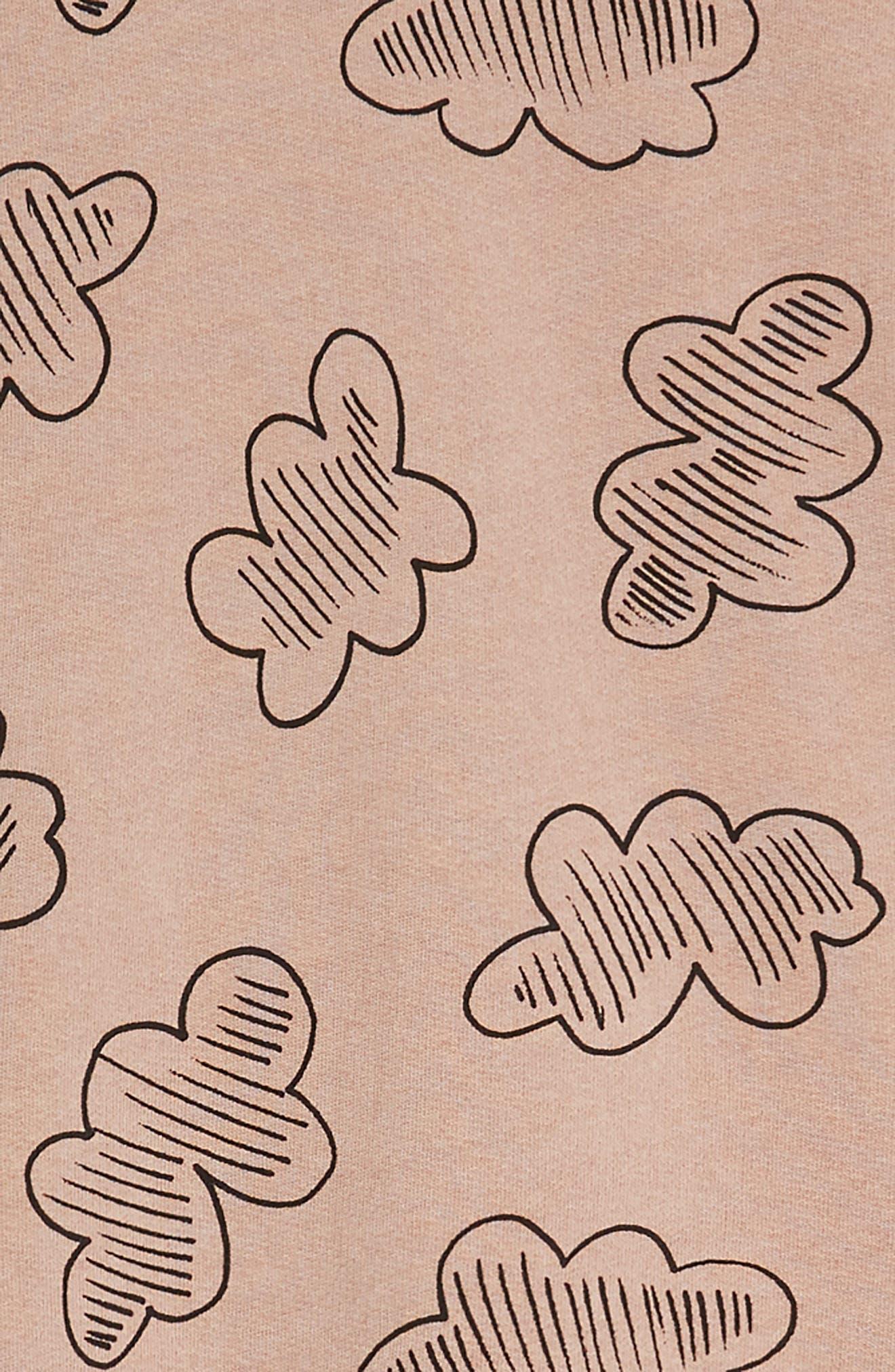 Knit Ruffle Sleeve Dress,                             Alternate thumbnail 3, color,                             680