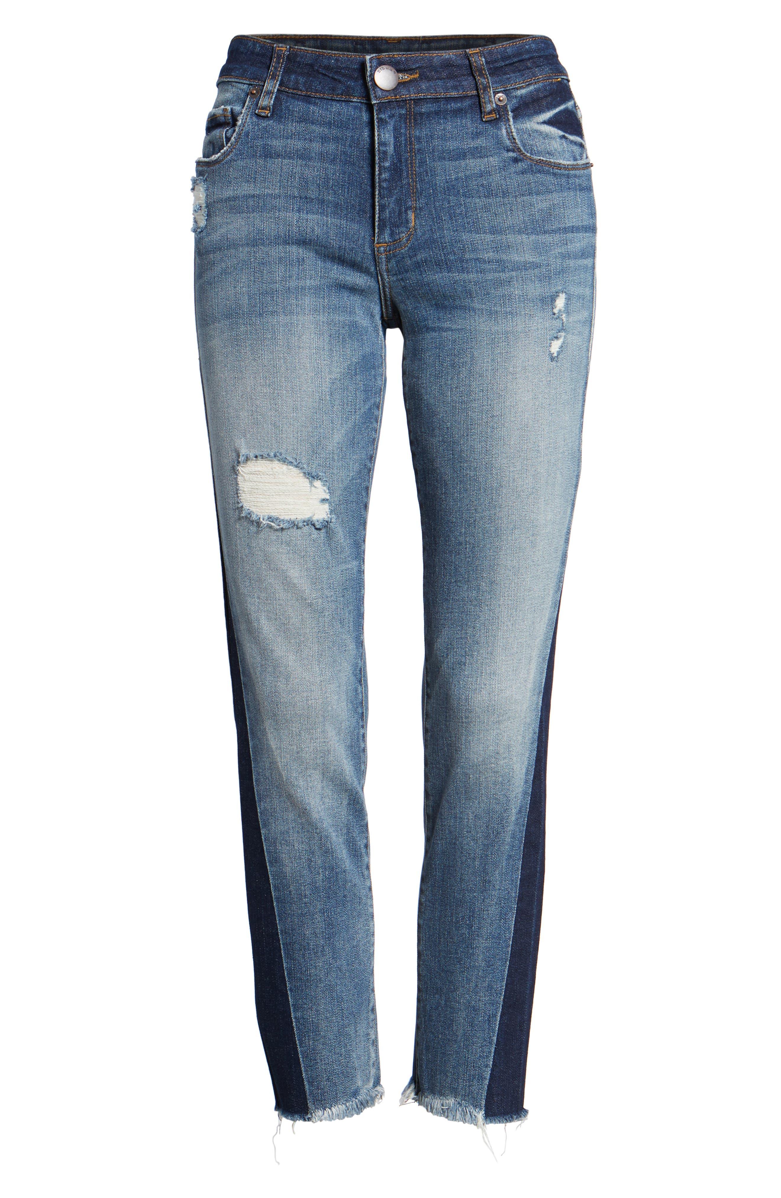 Taylor Colorblock Straight Leg Jeans,                             Alternate thumbnail 6, color,