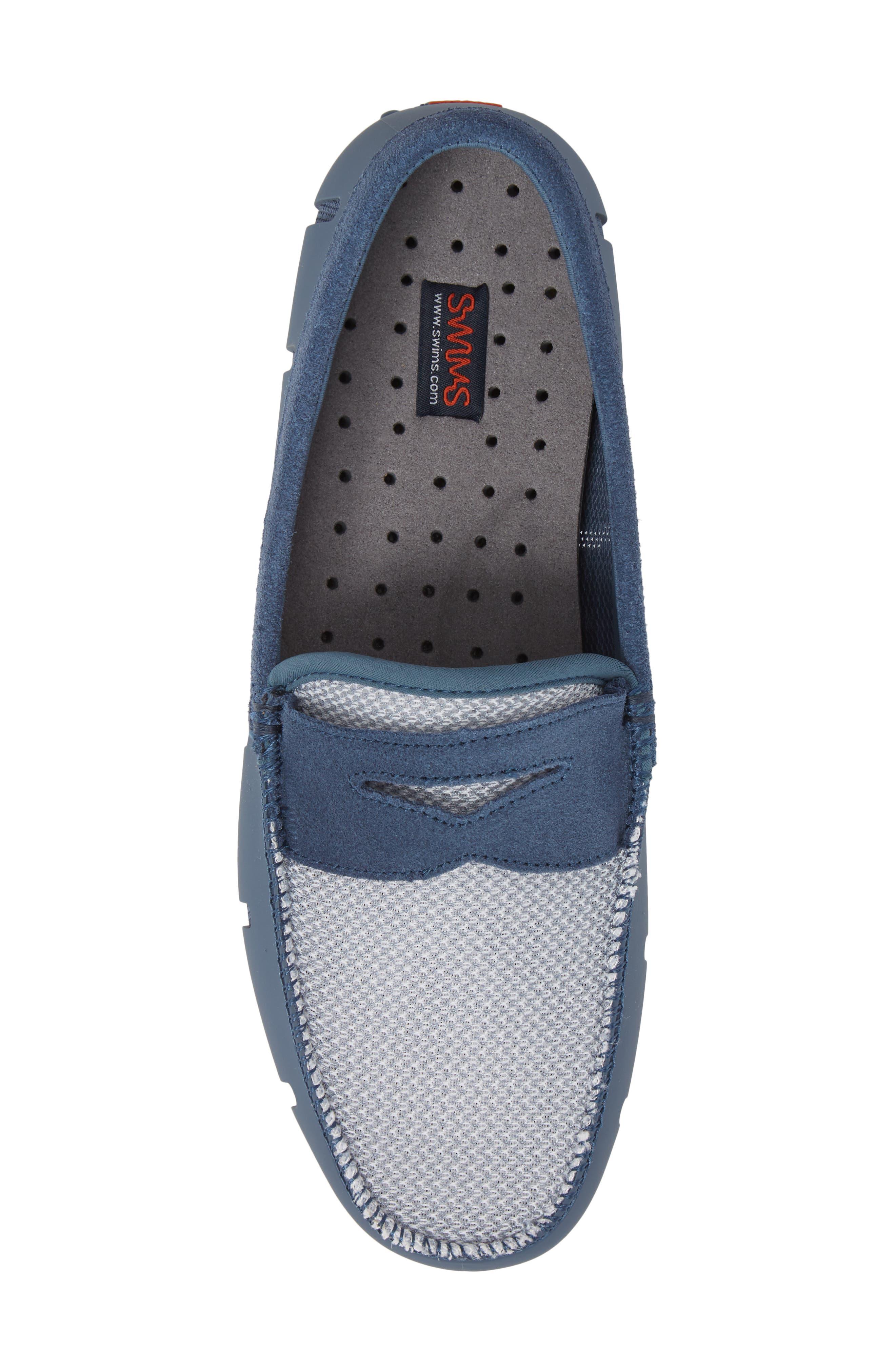 Driving Shoe,                             Alternate thumbnail 5, color,                             SLATE/ WHITE FABRIC