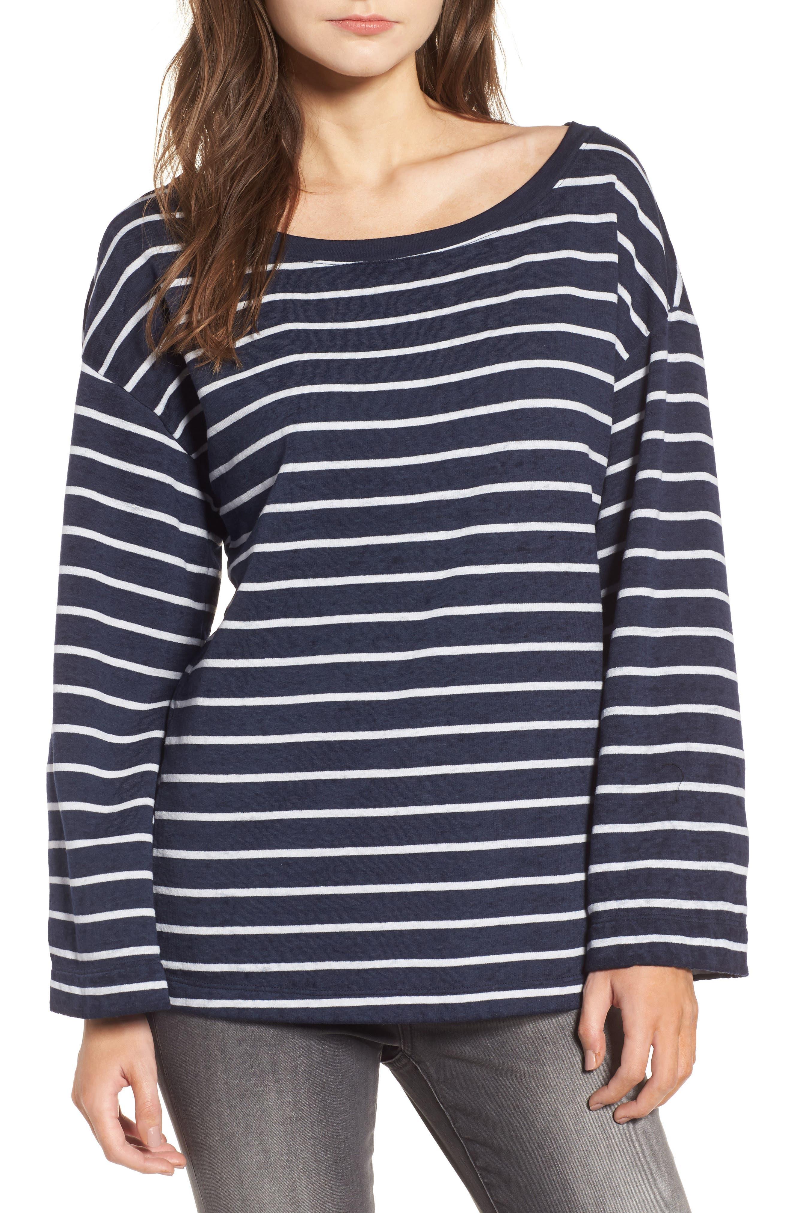 Bell Sleeve Sweatshirt,                             Main thumbnail 3, color,