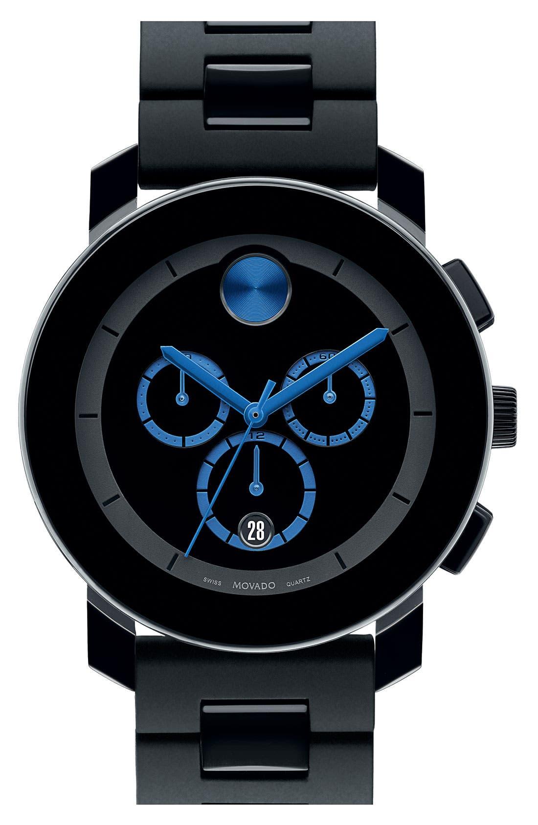 'Bold Chrono' Bracelet Watch, 42mm,                             Main thumbnail 1, color,                             BLACK