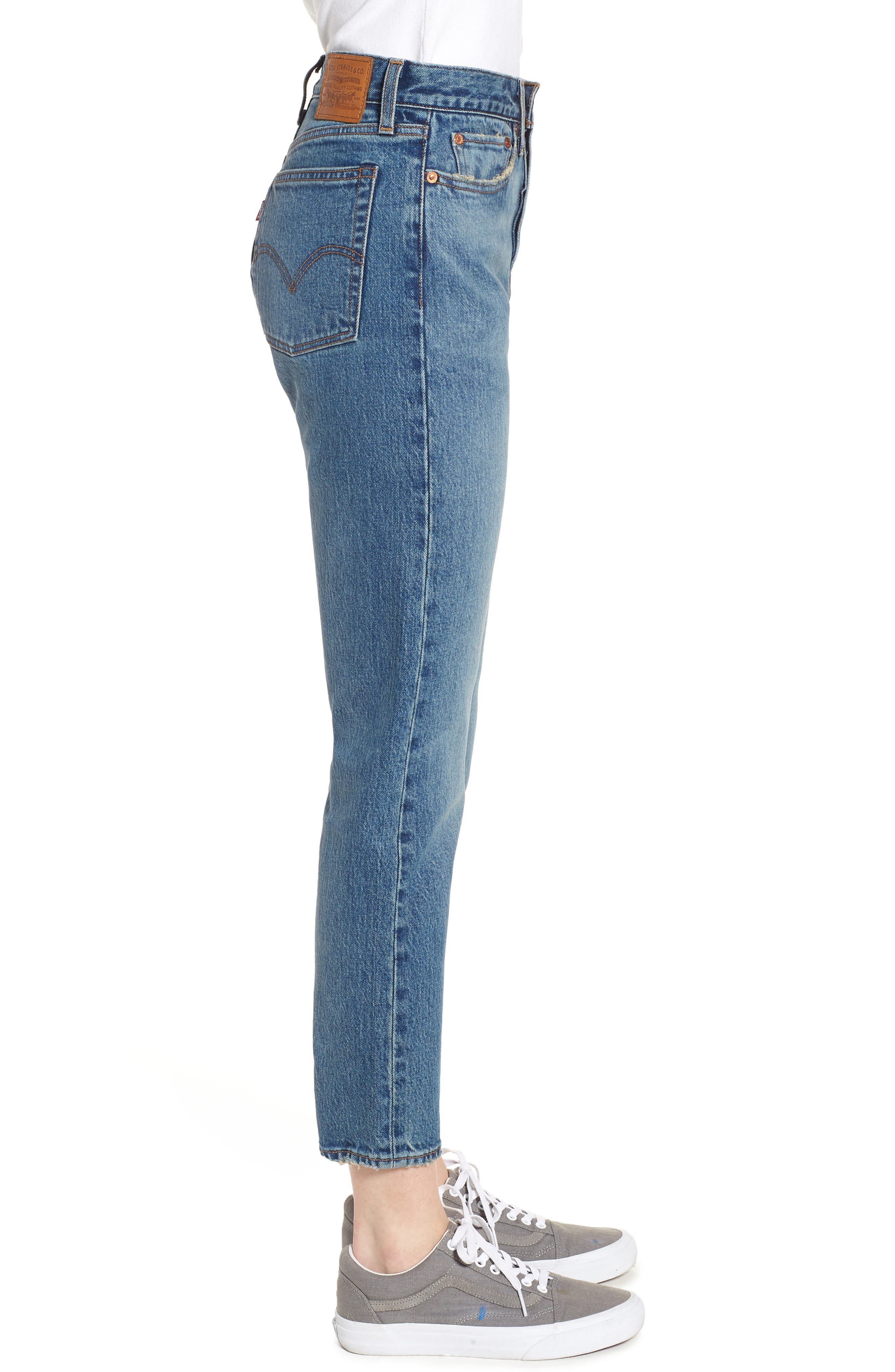 Wedgie Icon Fit High Waist Ankle Jeans,                             Alternate thumbnail 3, color,                             THESE DREAMS
