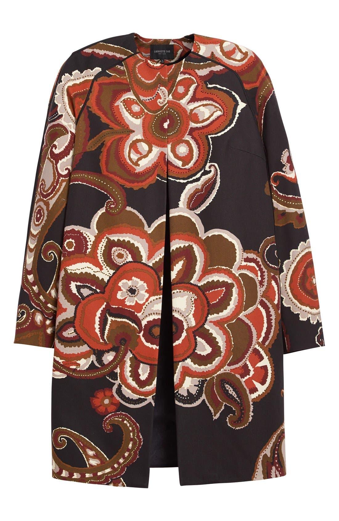 'Makeda' Paisley Print Faille Jacket,                             Alternate thumbnail 2, color,                             001