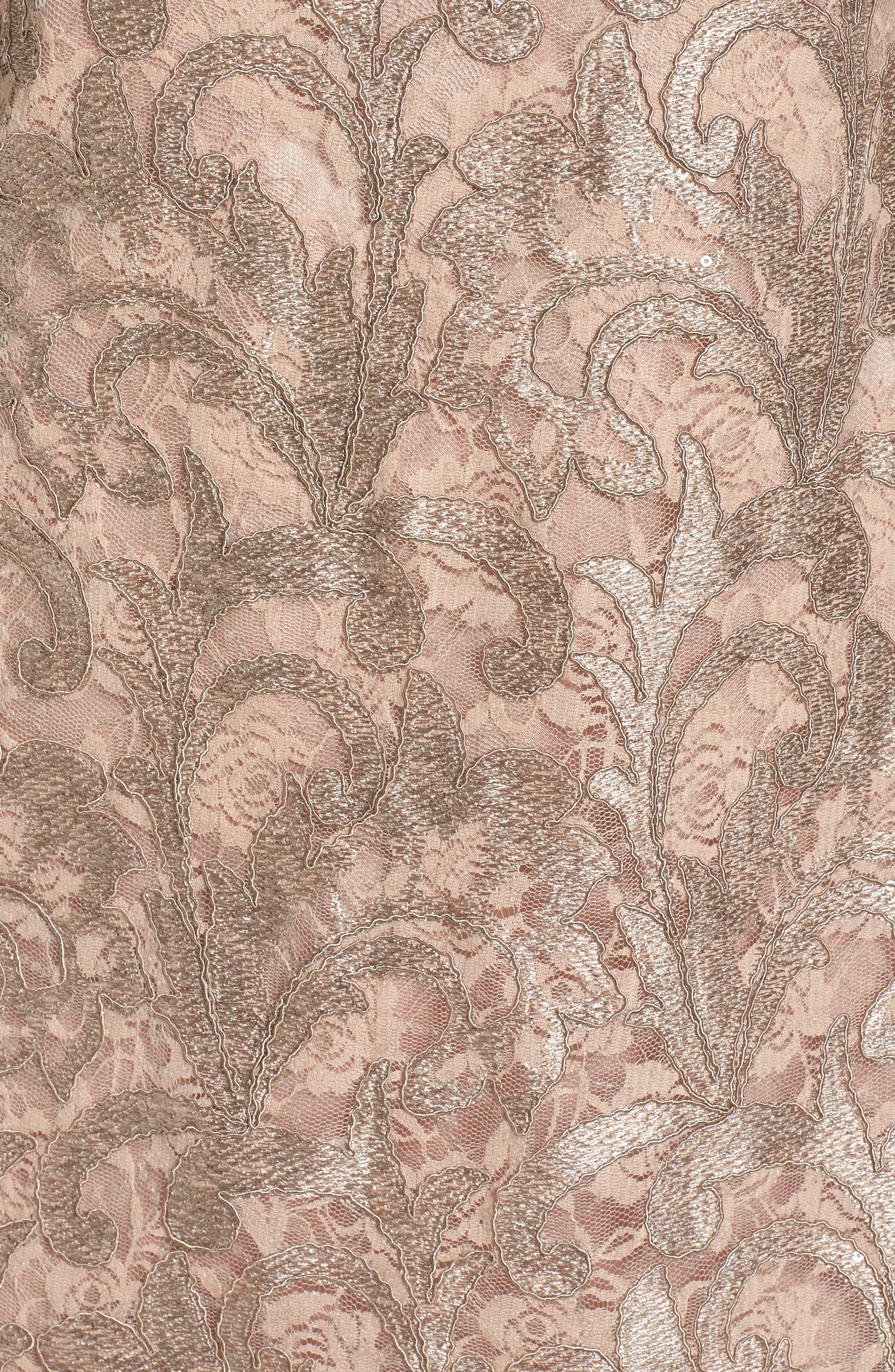 Lace Shift Dress,                             Alternate thumbnail 5, color,