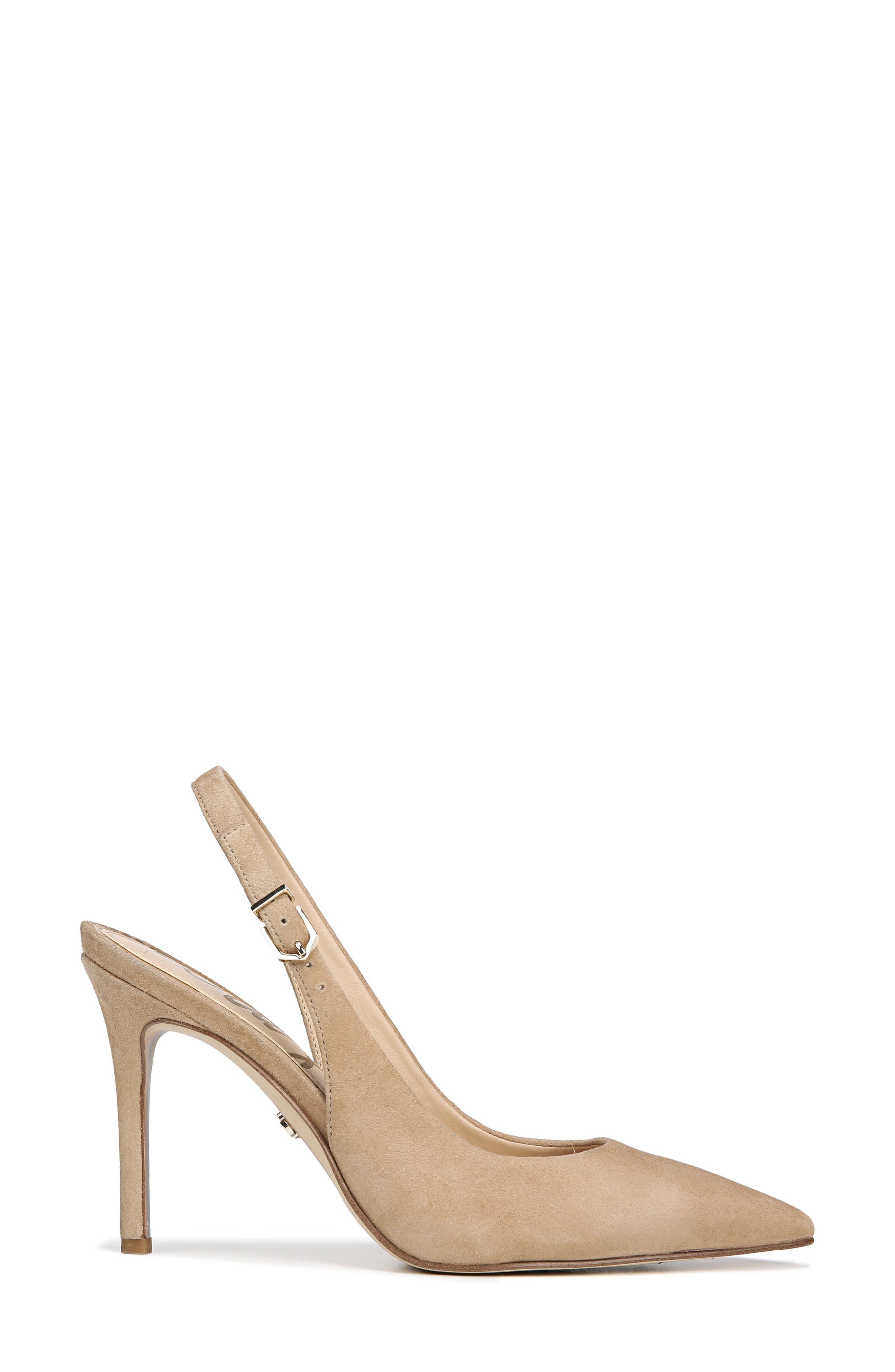 Hastings Slingback Pump,                             Alternate thumbnail 3, color,                             OATMEAL SUEDE LEATHER