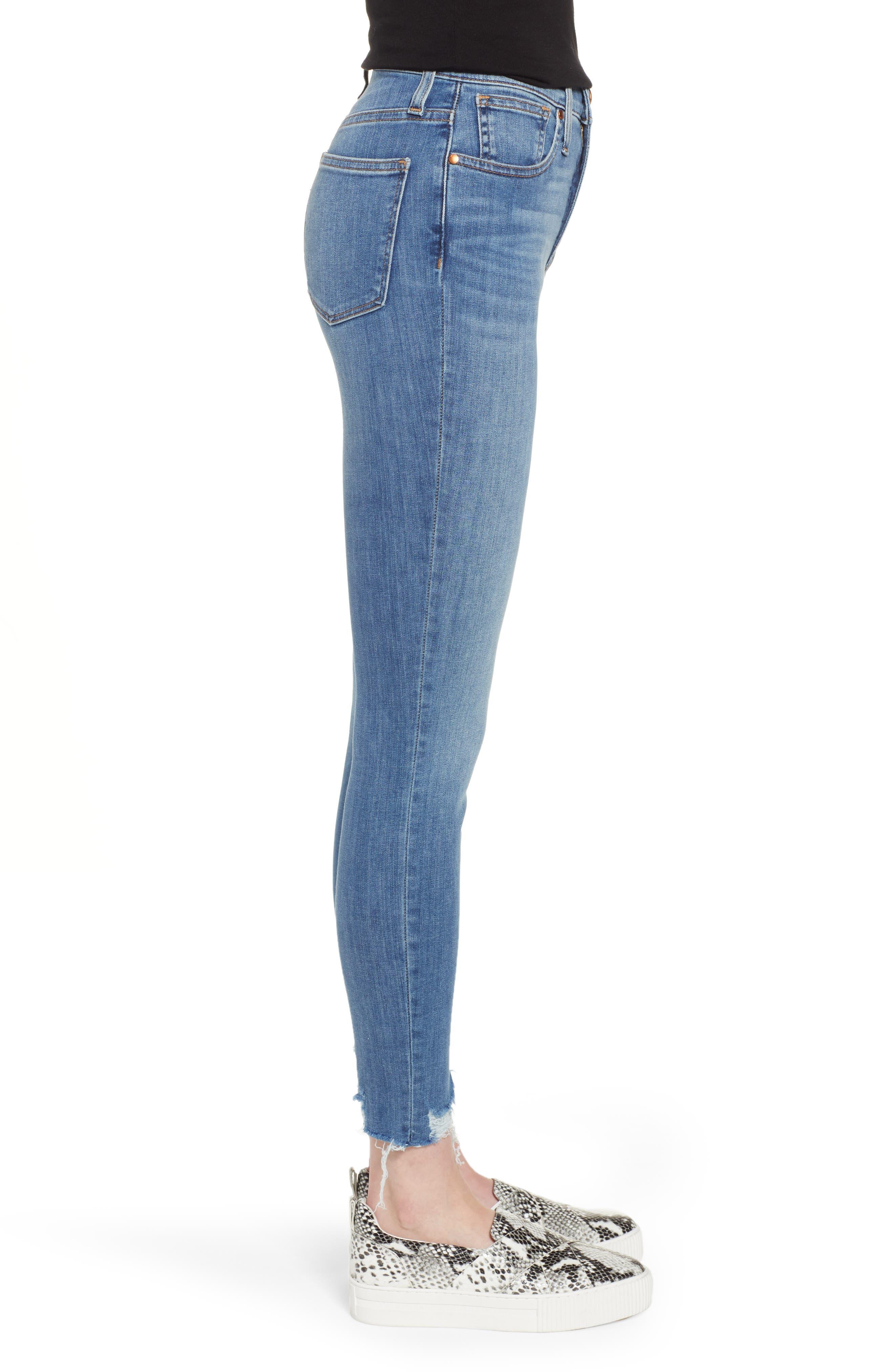 Sierra High Waist Raw Hem Skinny Jeans,                             Alternate thumbnail 3, color,                             NORIKO