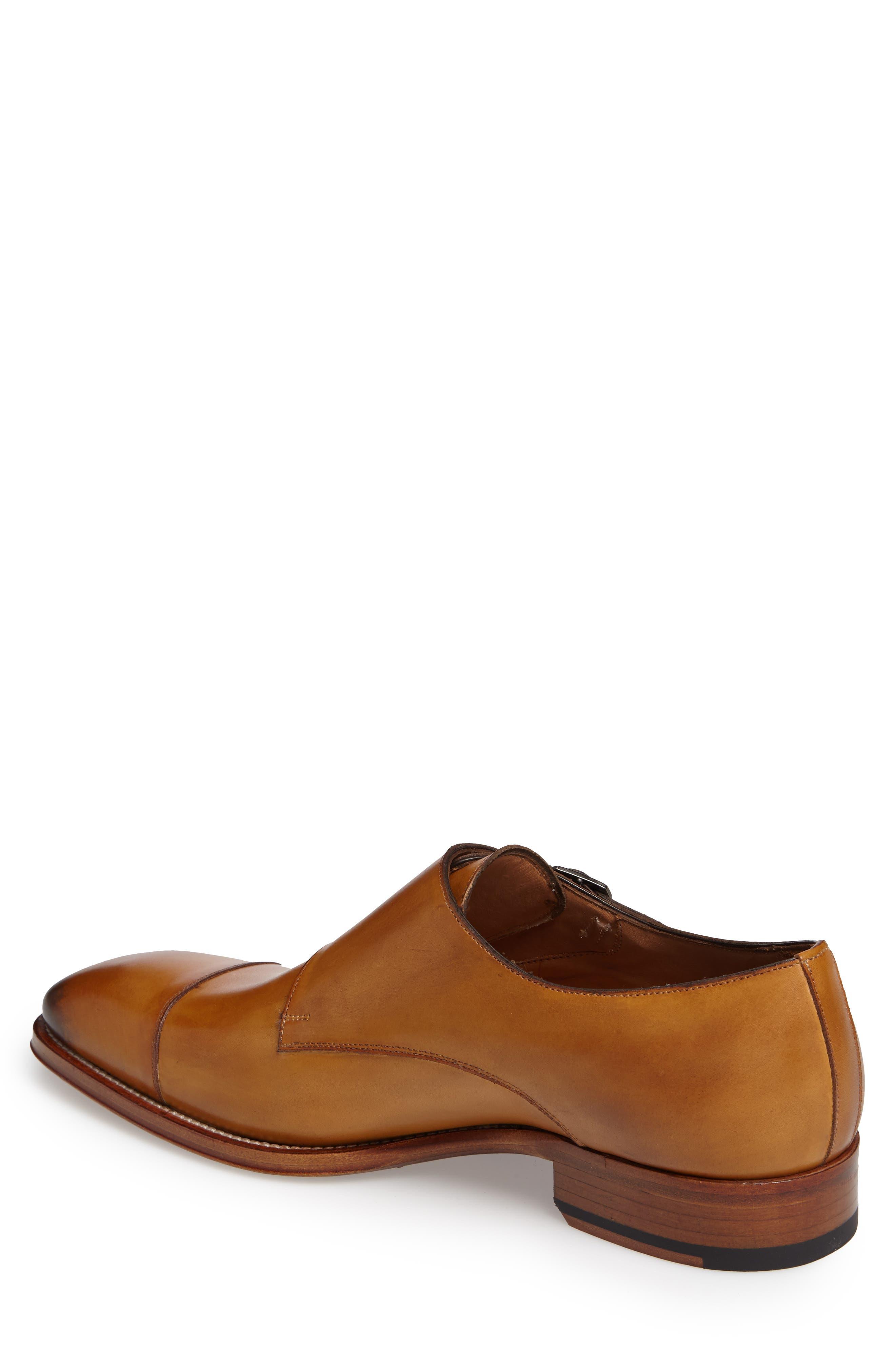Cajal Double Monk Strap Cap Toe Shoe,                             Alternate thumbnail 8, color,