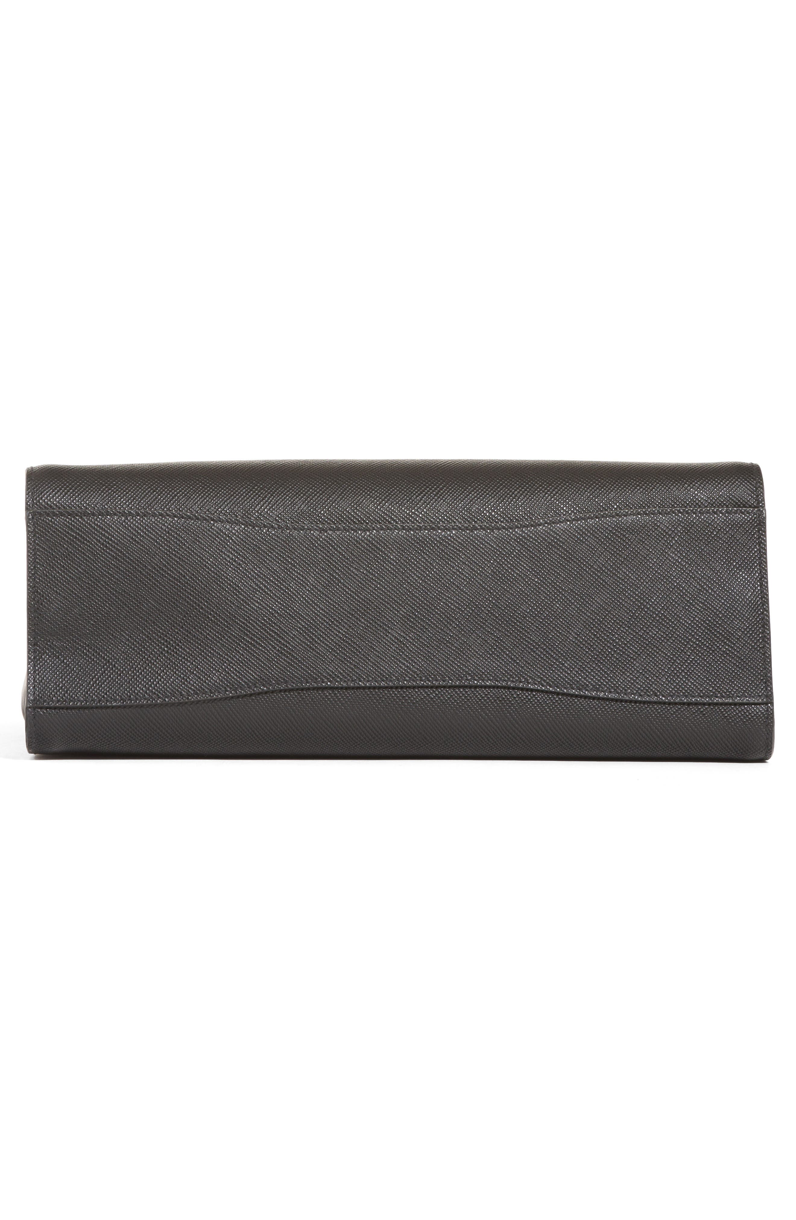 Medium Saffiano Leather Tote,                             Alternate thumbnail 5, color,                             001