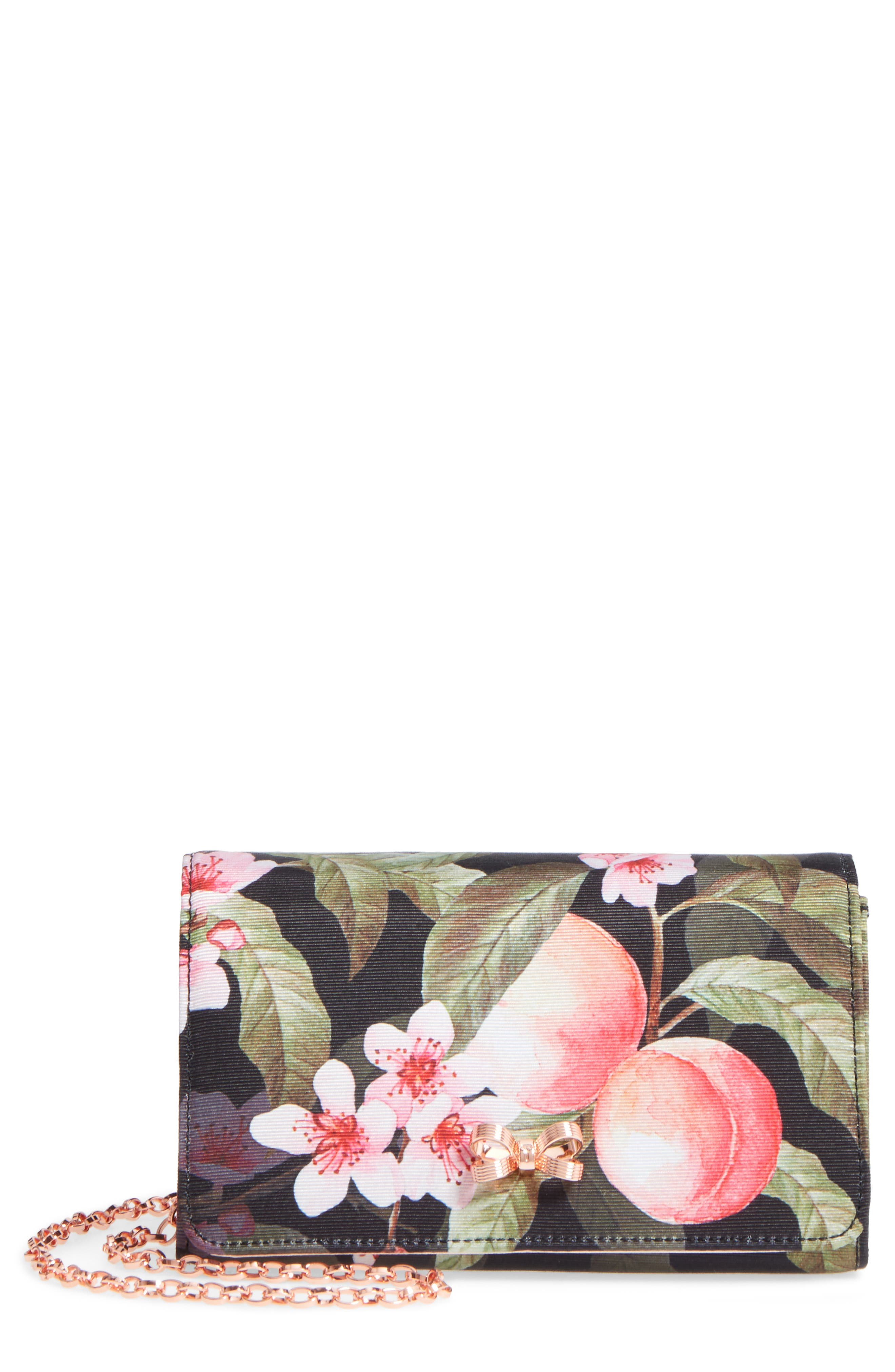 Pauleen Peach Blossom Crossbody Bag,                         Main,                         color, 001