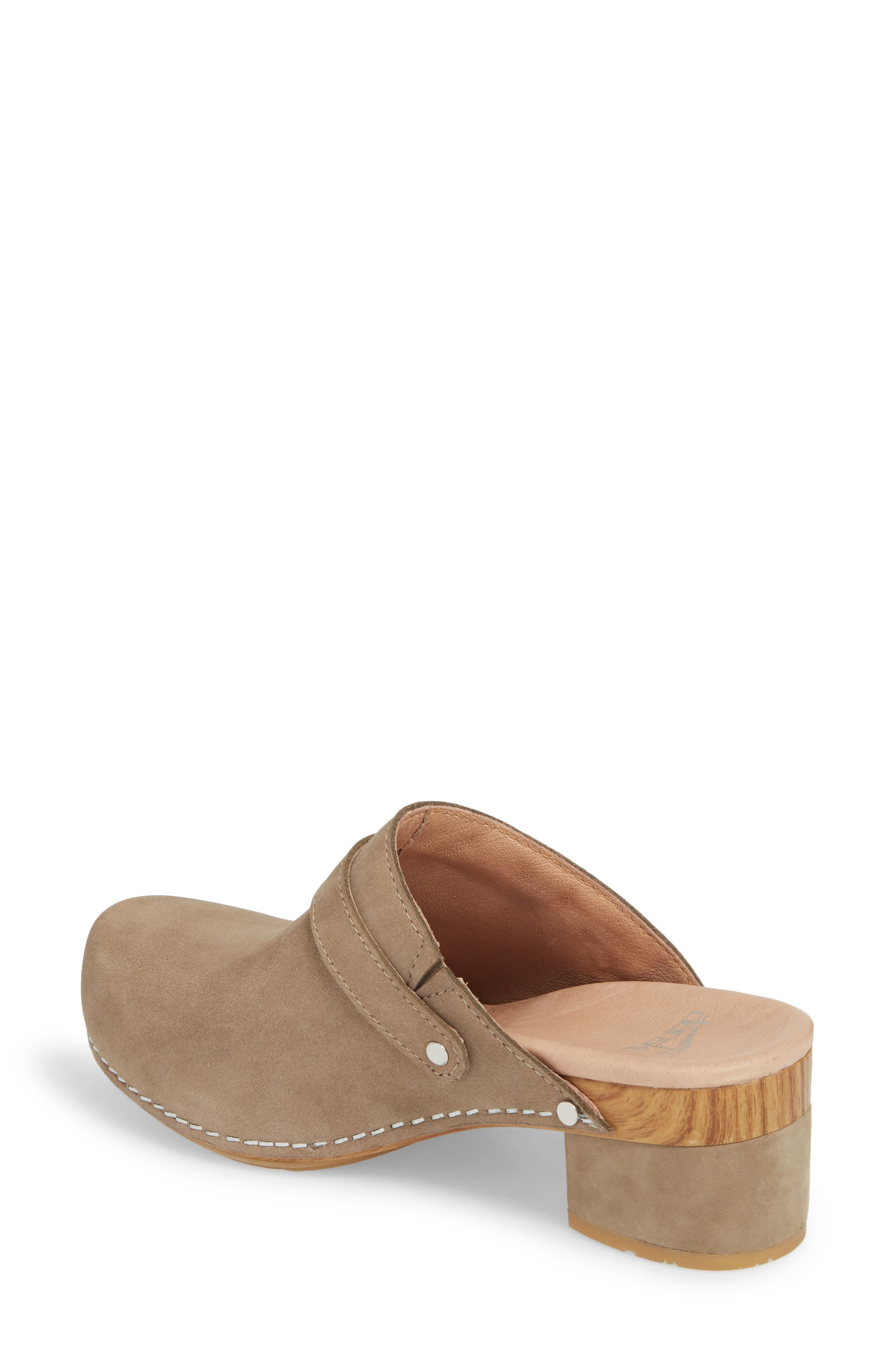 Marty Clog,                             Alternate thumbnail 2, color,                             TAUPE MILLED NUBUCK LEATHER