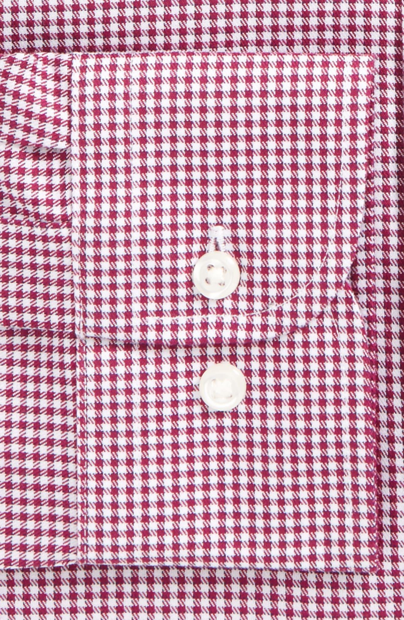 Smartcare<sup>™</sup> Trim Fit Mini Check Dress Shirt,                             Alternate thumbnail 6, color,                             510