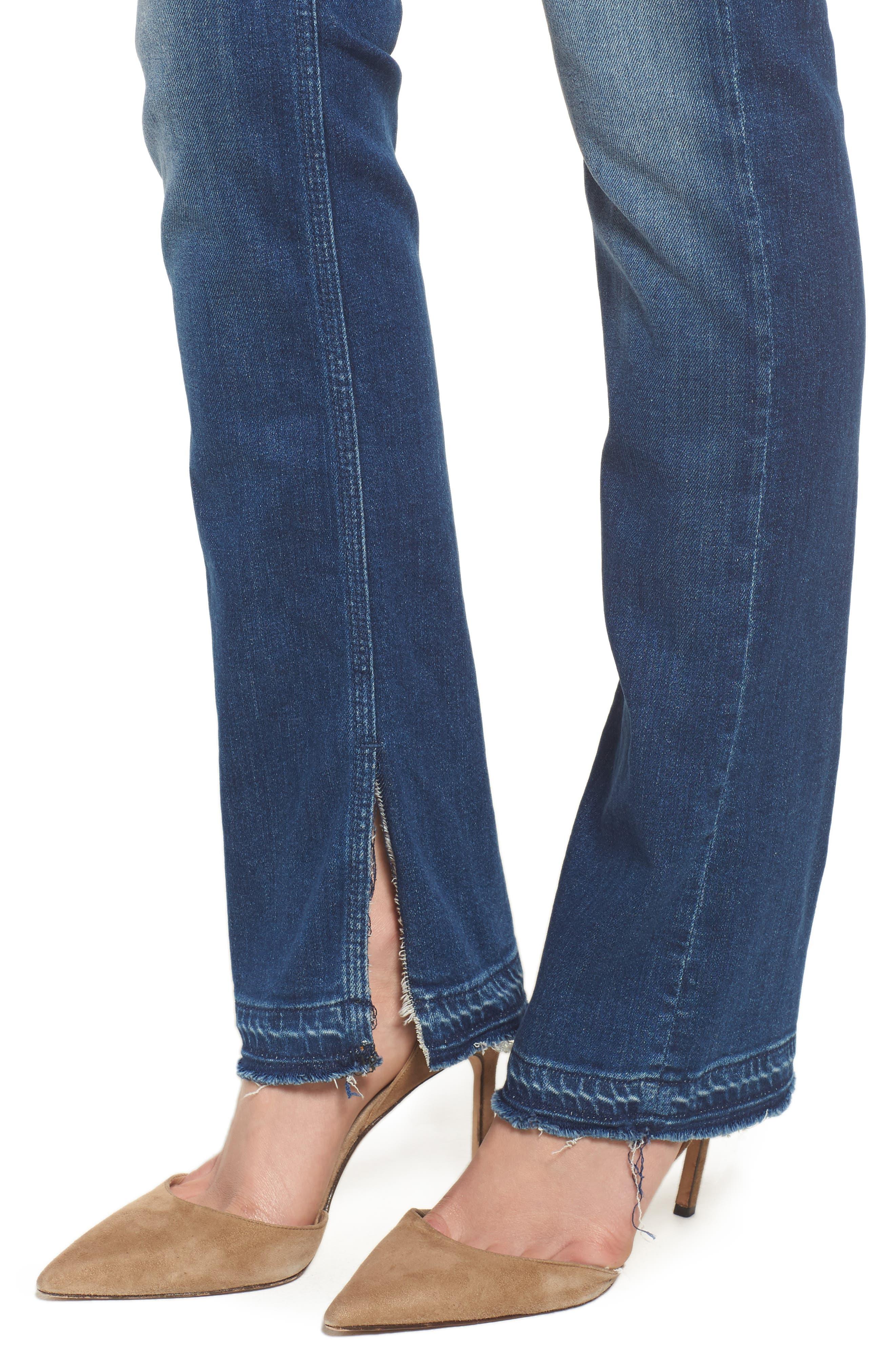 The Rascal Released Hem Straight Leg Jeans,                             Alternate thumbnail 4, color,                             400