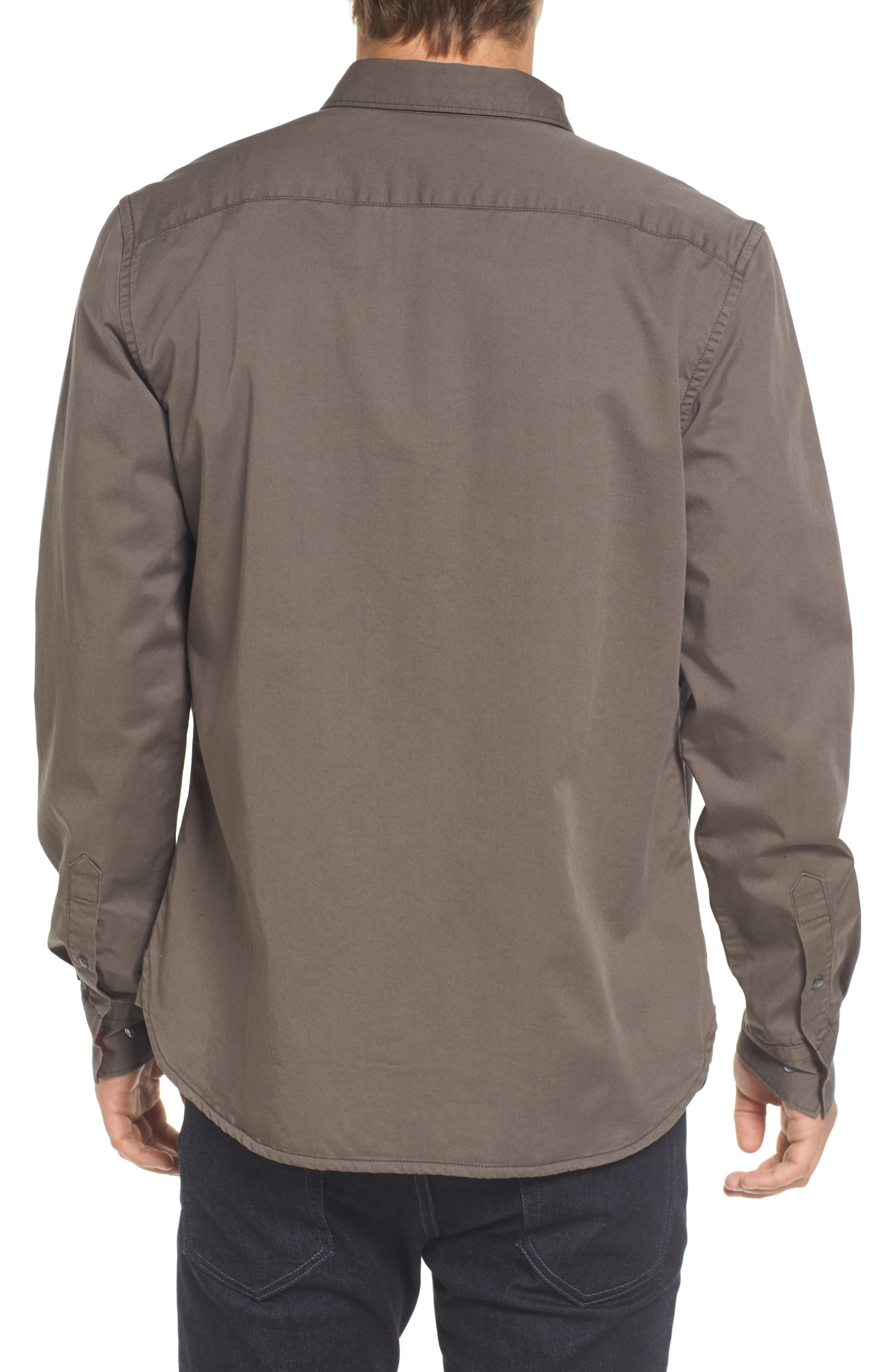 Regular Fit Twill Sport Shirt,                             Alternate thumbnail 2, color,