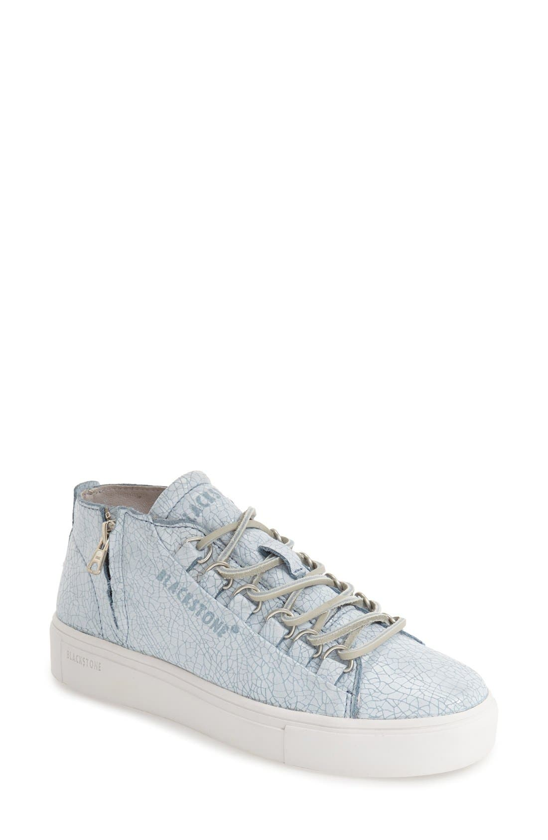 'LL60' Midi Sneaker,                         Main,                         color, BLUE/ WHITE LEATHER