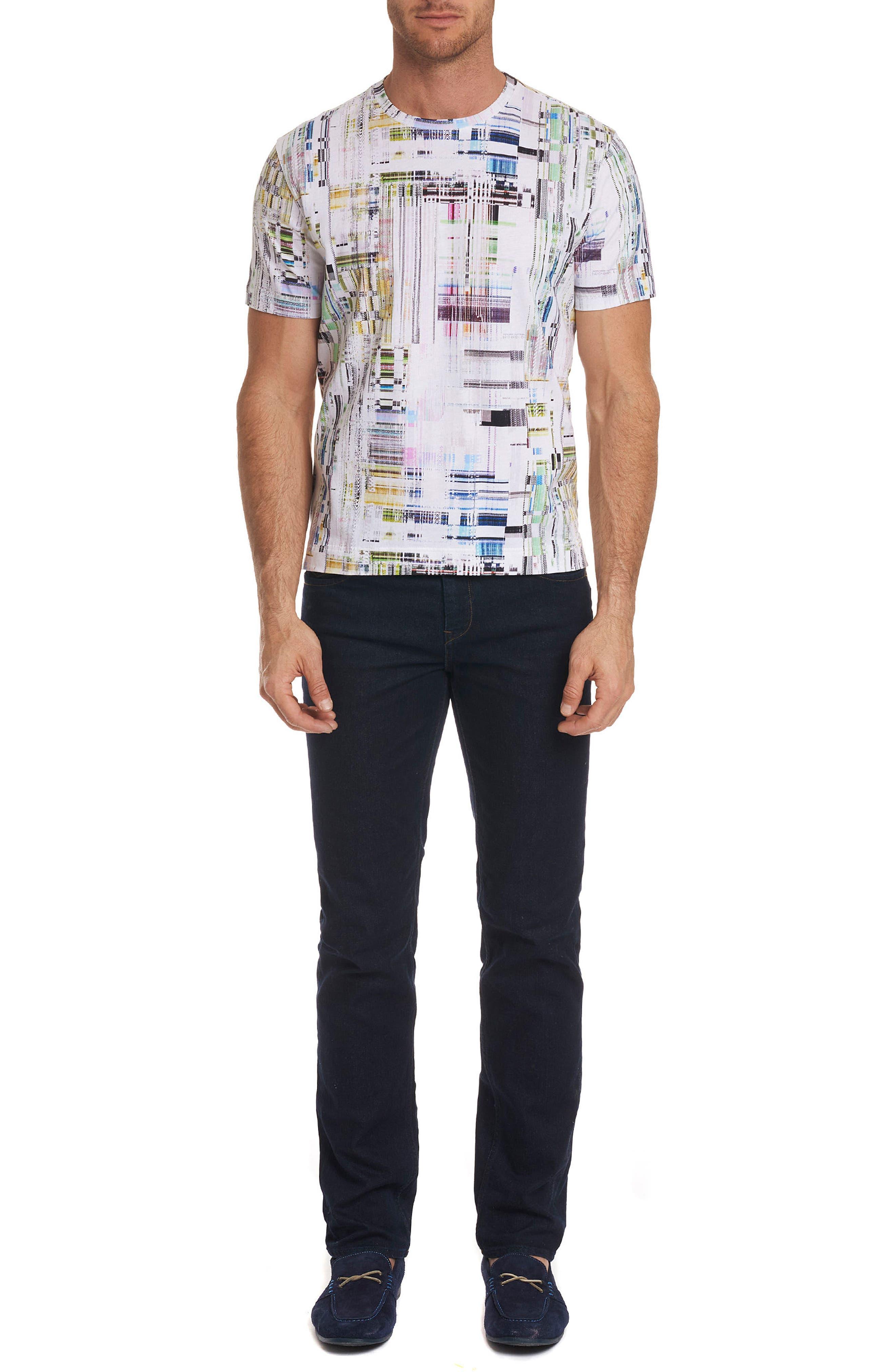 Aquatic Classic Fit T-Shirt,                             Alternate thumbnail 3, color,                             100