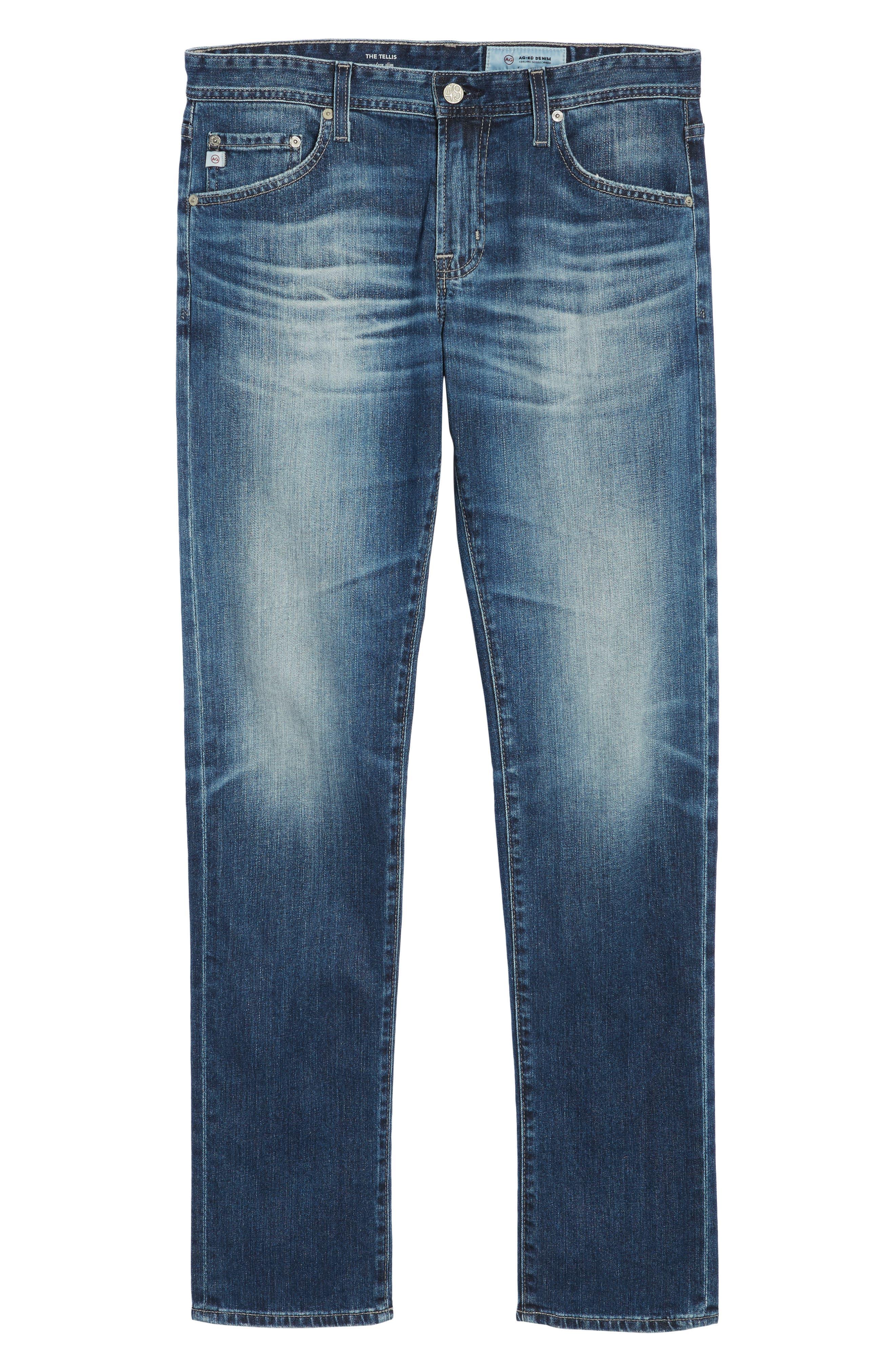 AG,                             Tellis Slim Fit Jeans,                             Alternate thumbnail 6, color,                             417