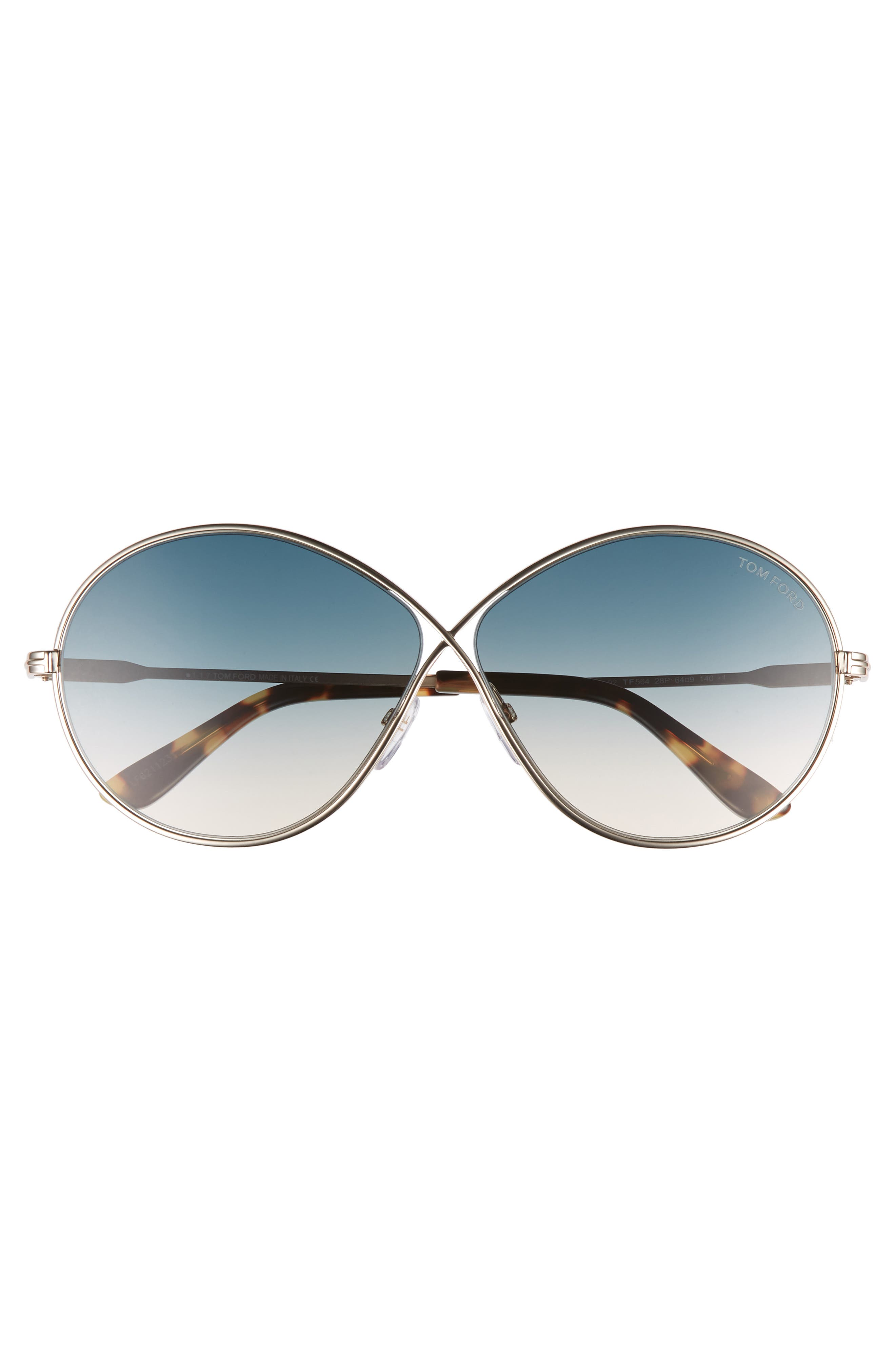 Rania 64mm Oversize Round Sunglasses,                             Alternate thumbnail 8, color,