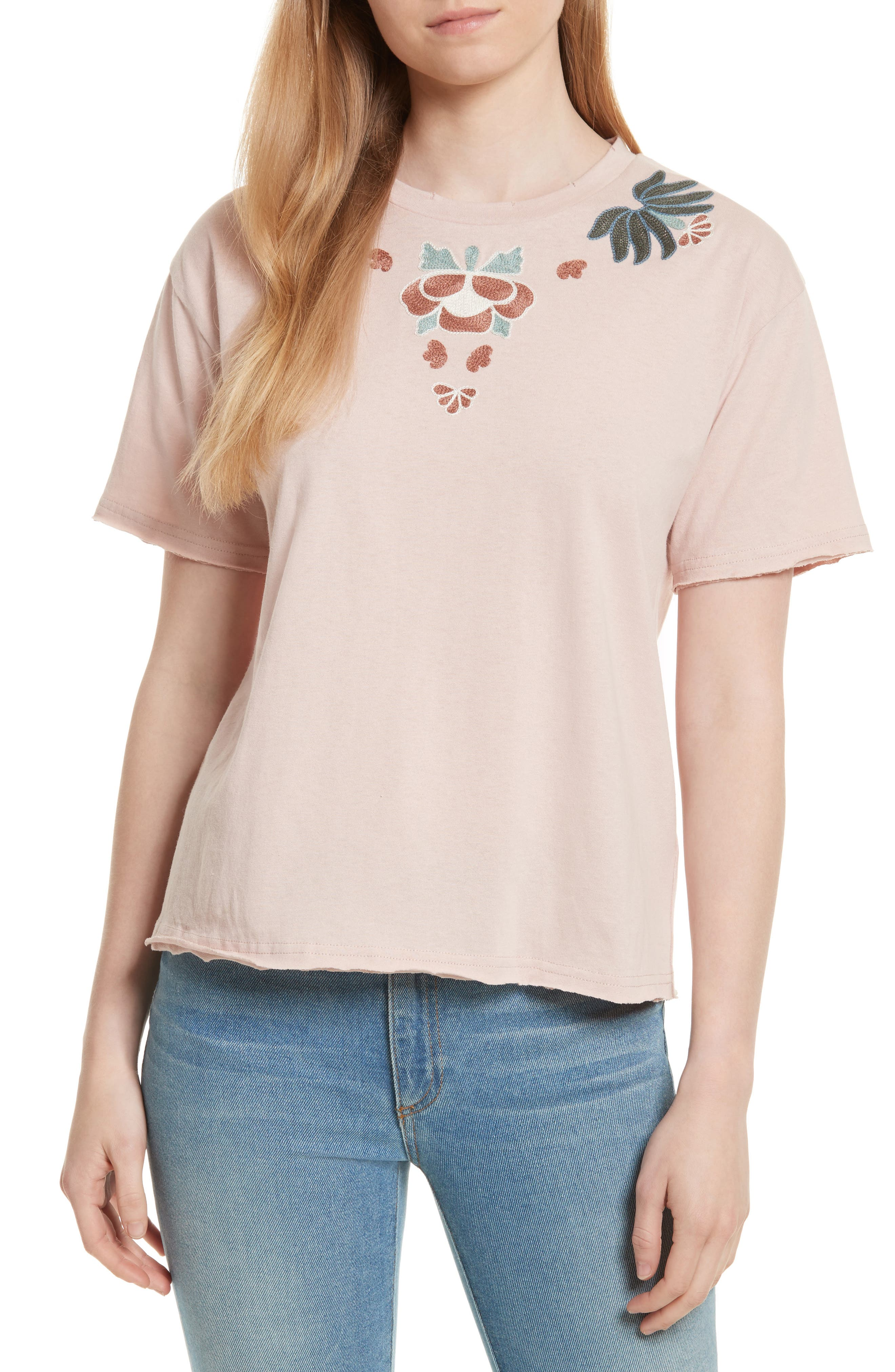 Ronnie Embroidered Tee,                         Main,                         color,