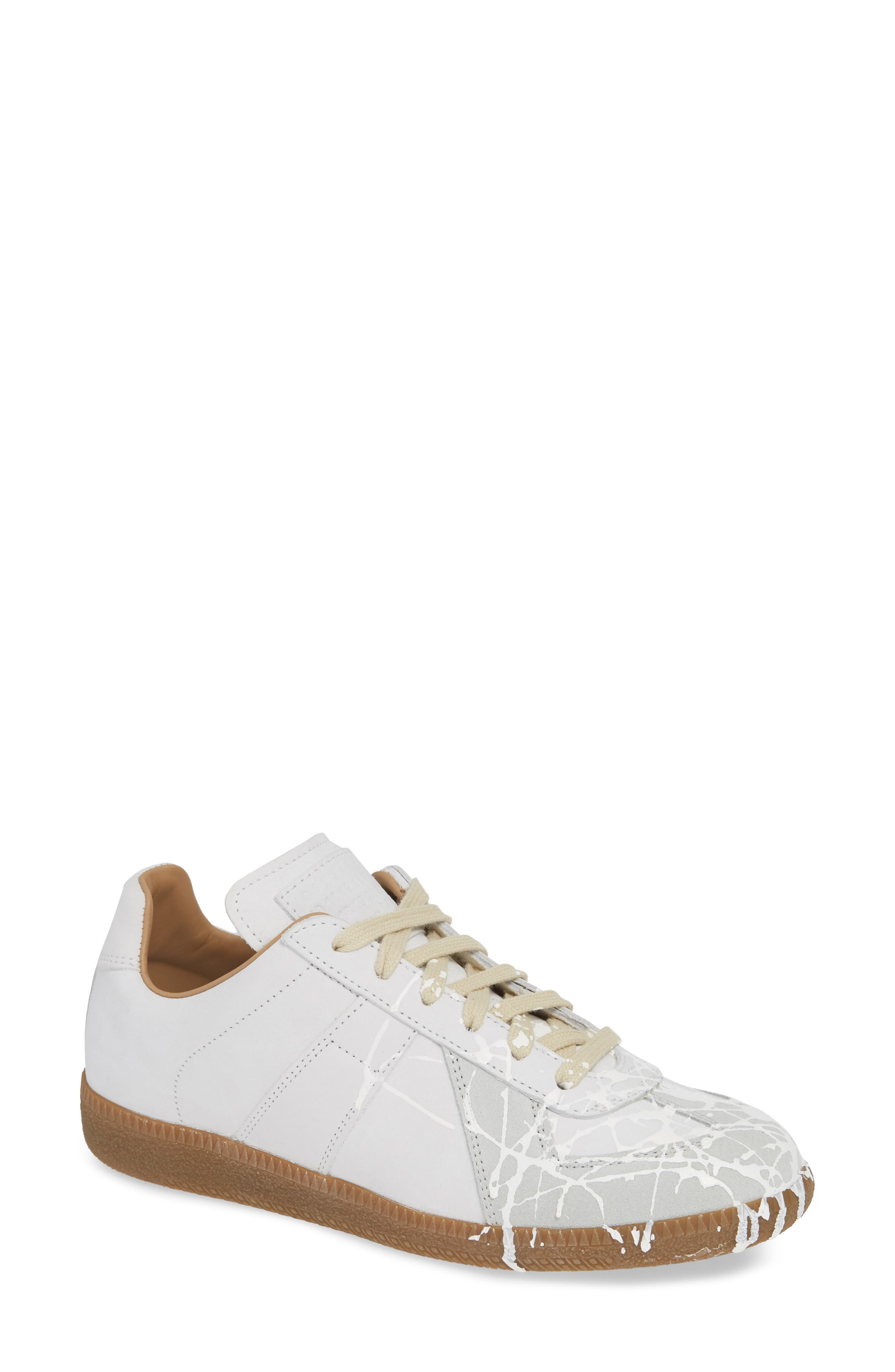 Replica Paint Splatter Sneaker,                         Main,                         color, WHITE