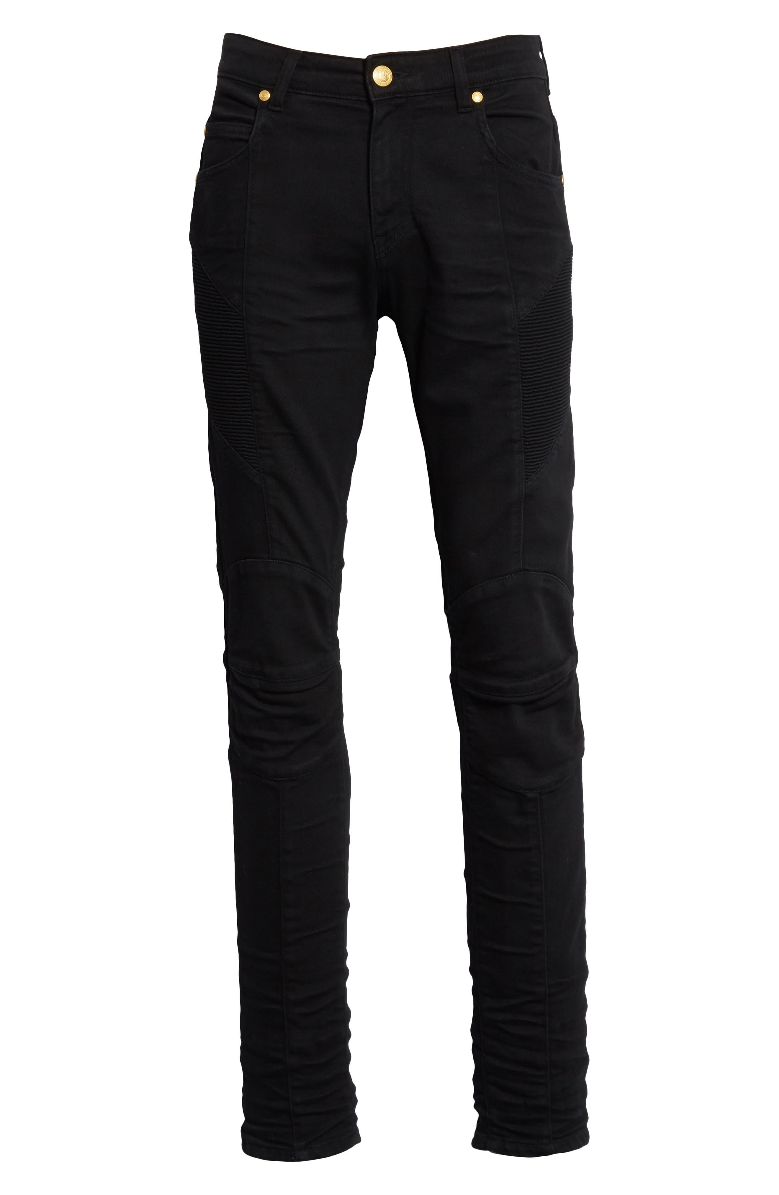 Moto Jeans,                             Alternate thumbnail 6, color,                             001