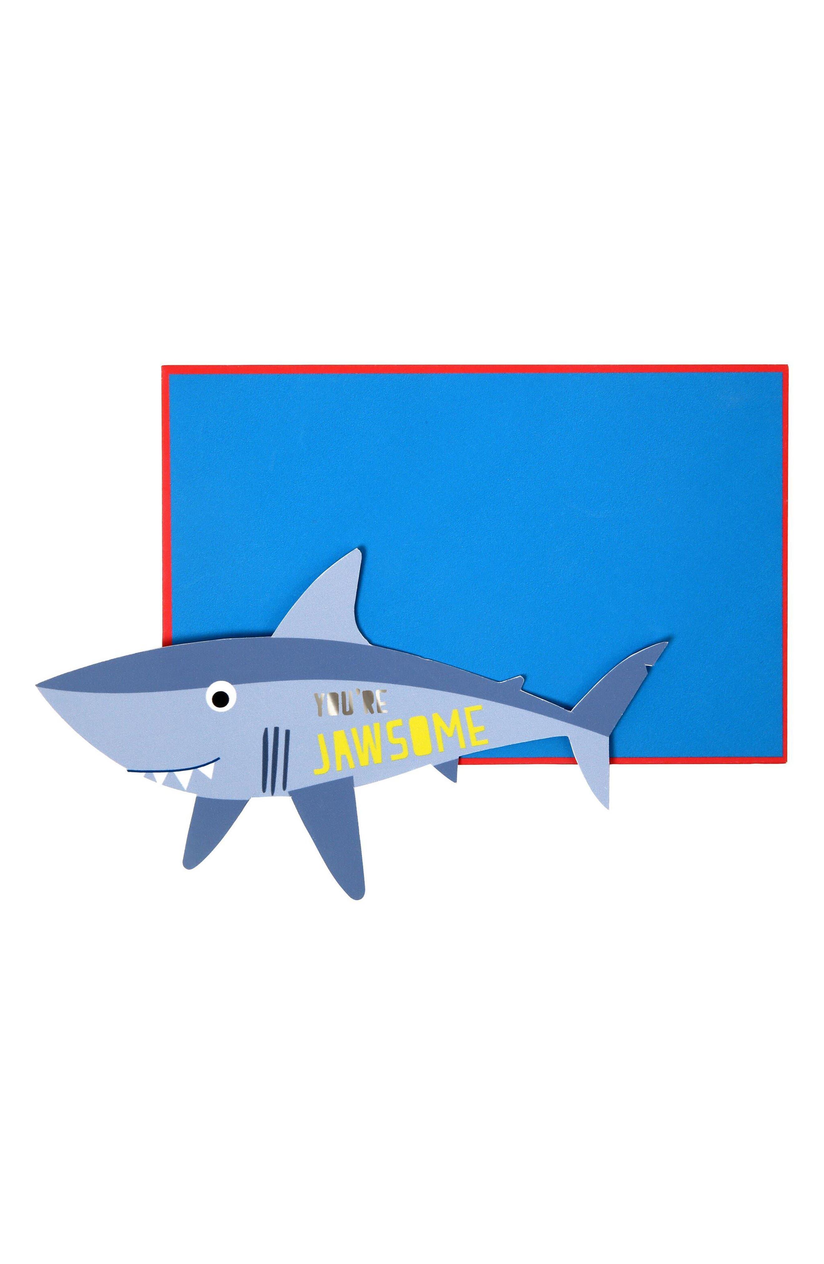 Set of 24 Shark Valentine Cards,                         Main,                         color,