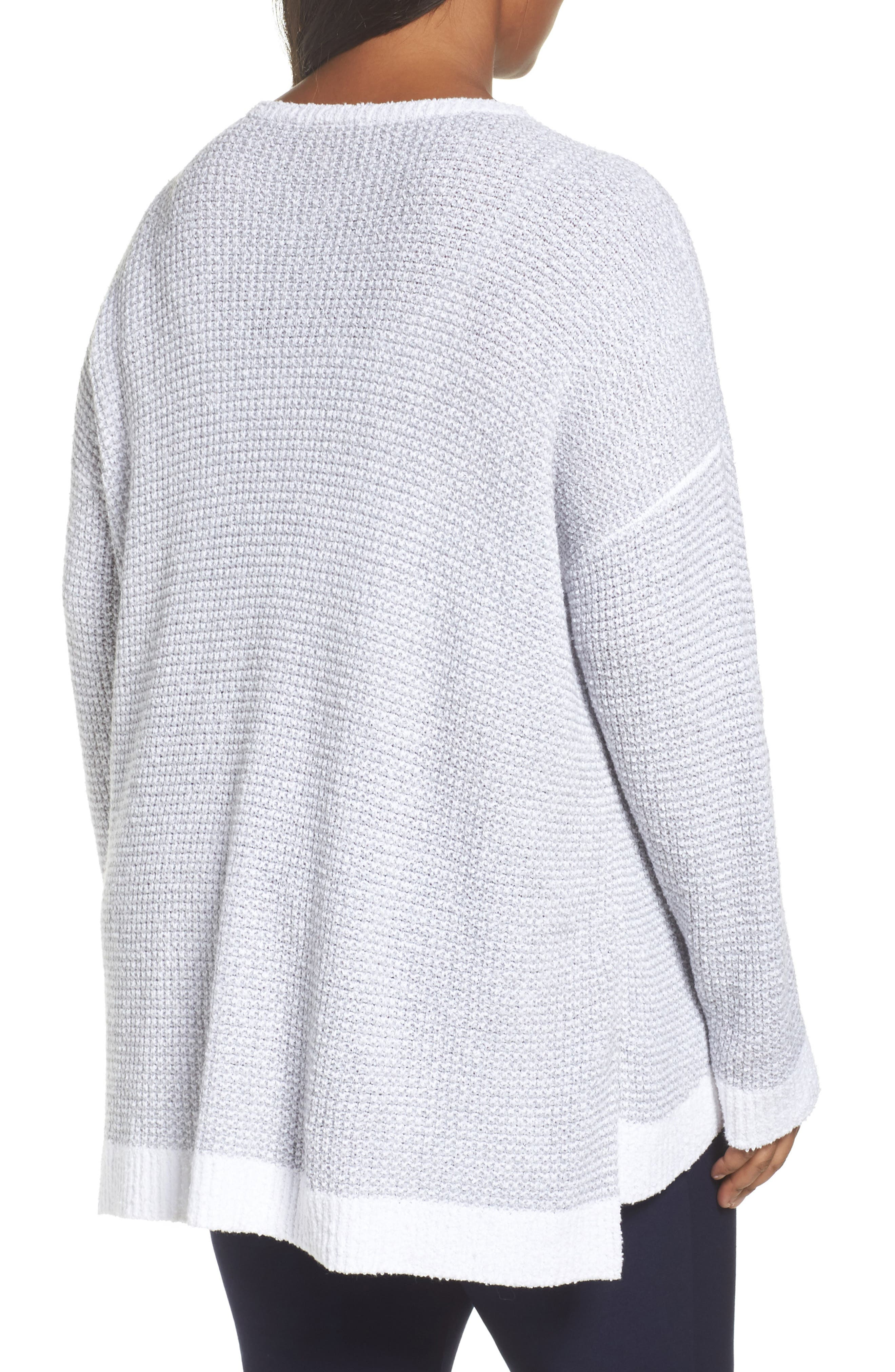 Waffled Organic Cotton Sweater,                             Alternate thumbnail 2, color,