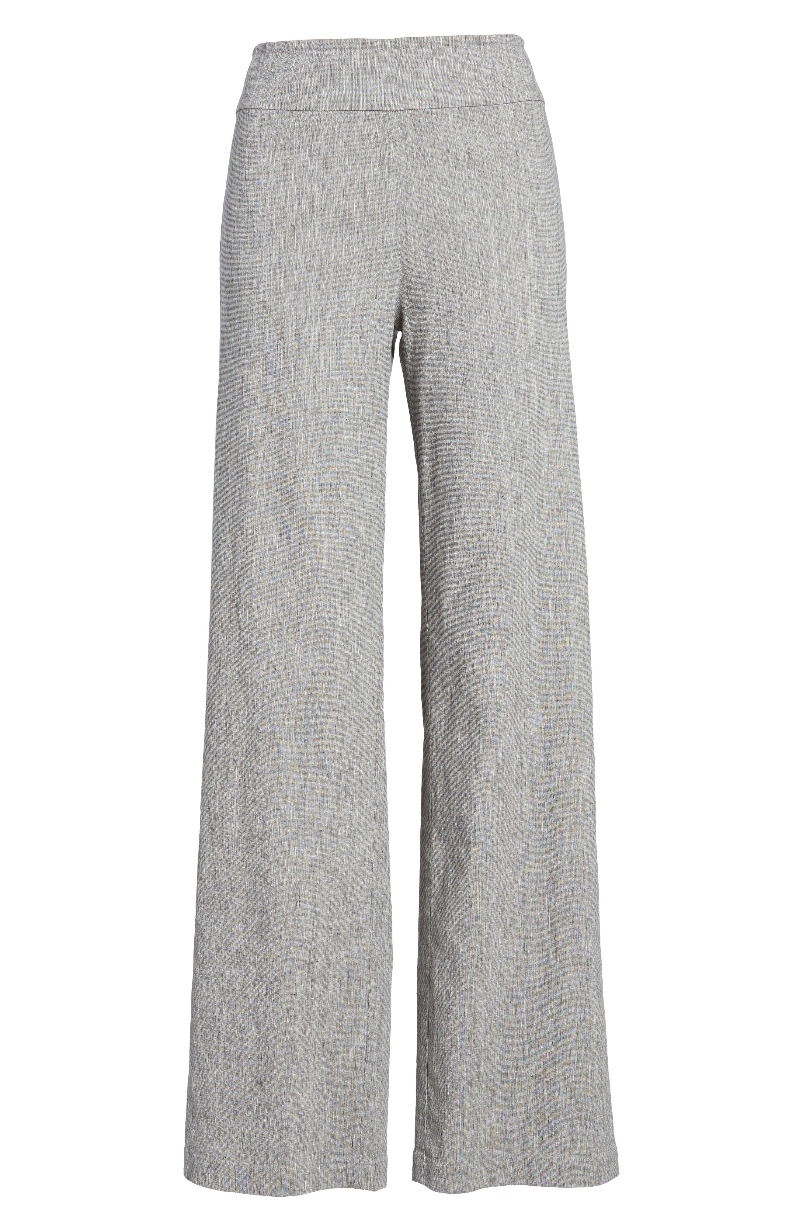 Here or There Linen Blend Pants,                             Alternate thumbnail 7, color,                             099