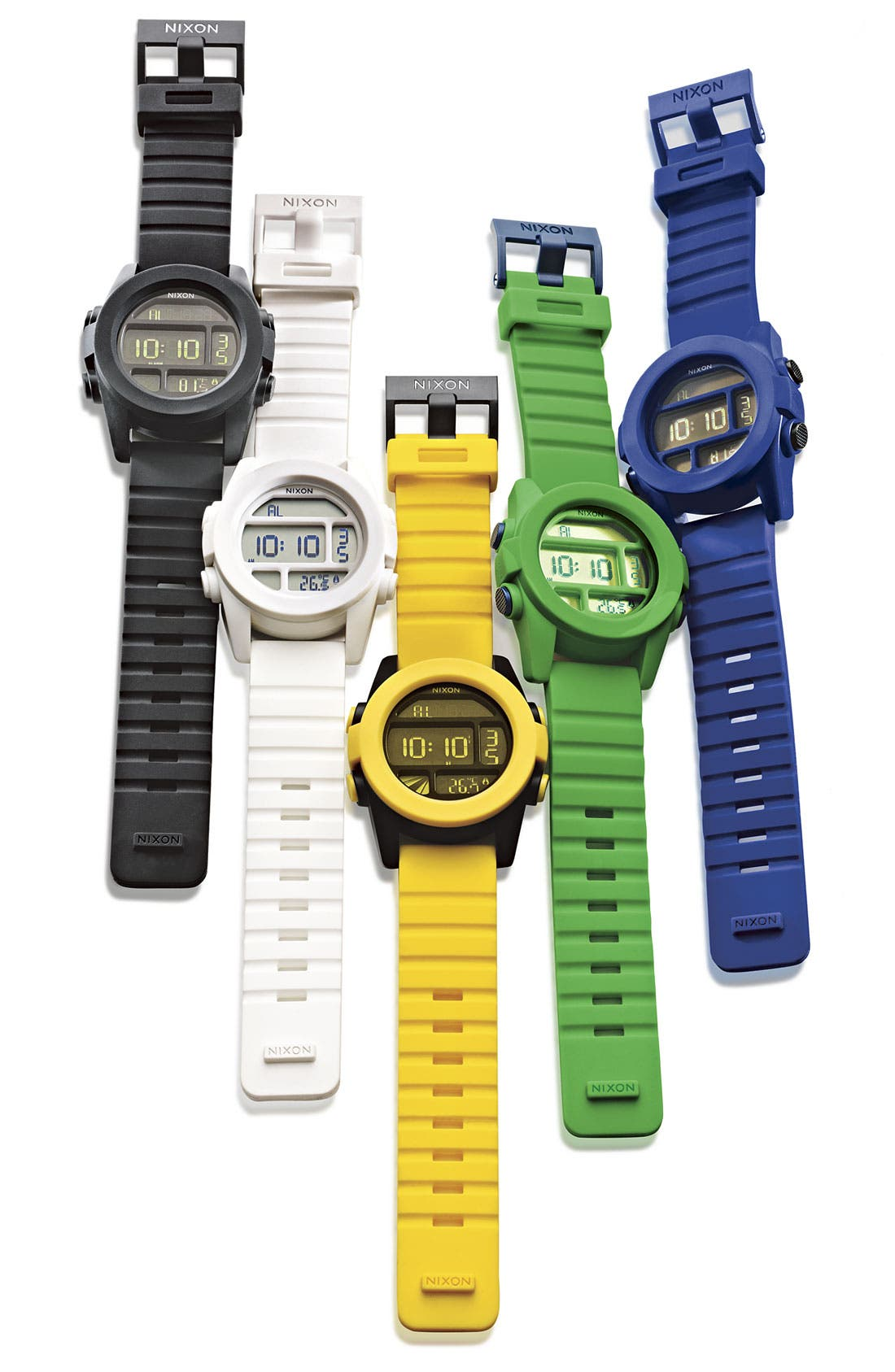 'The Unit' Round Digital Watch, 44mm,                             Alternate thumbnail 3, color,                             100