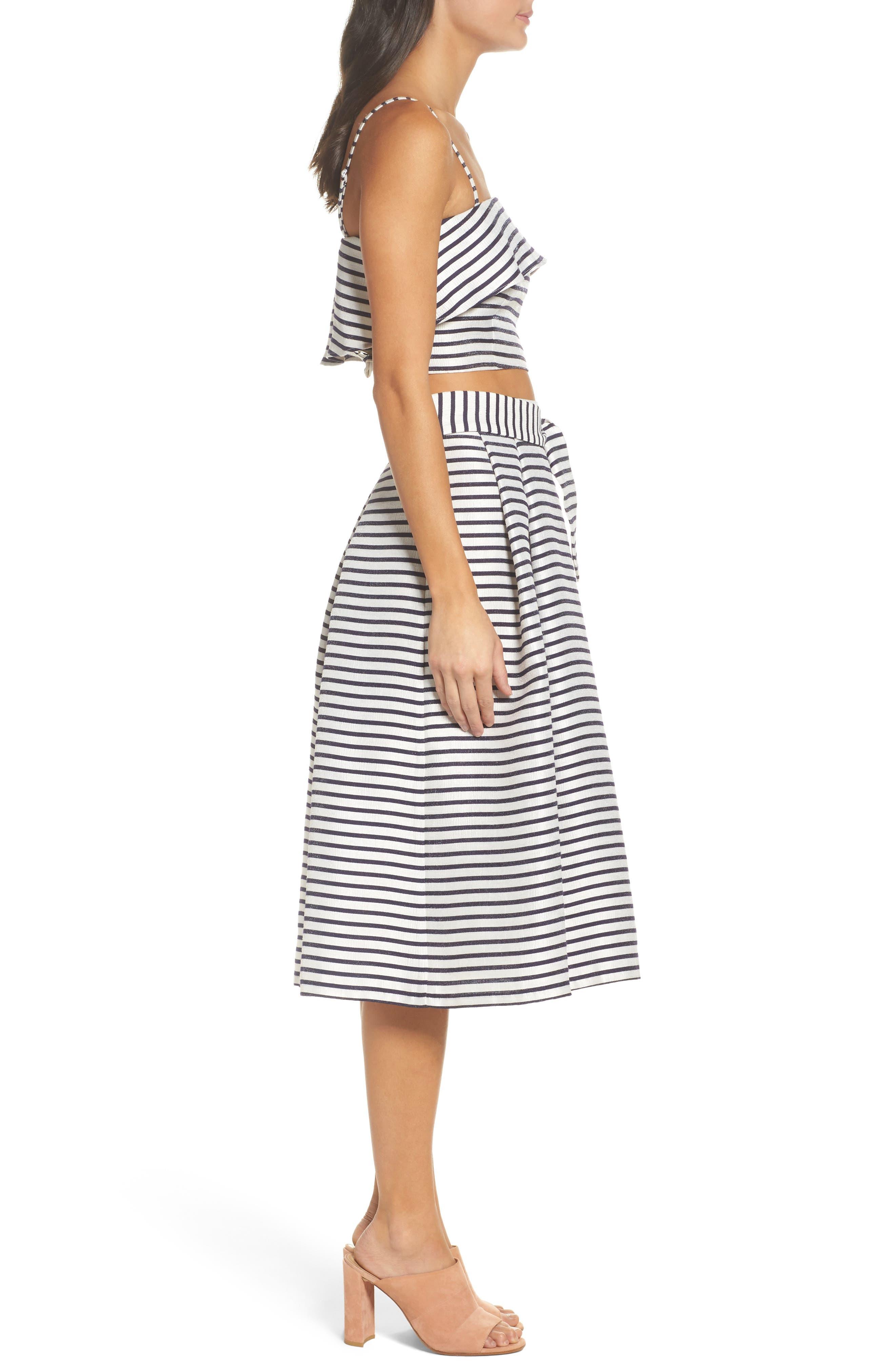 BB Dakota Grace Stripe Two-Piece Dress,                             Alternate thumbnail 3, color,                             900