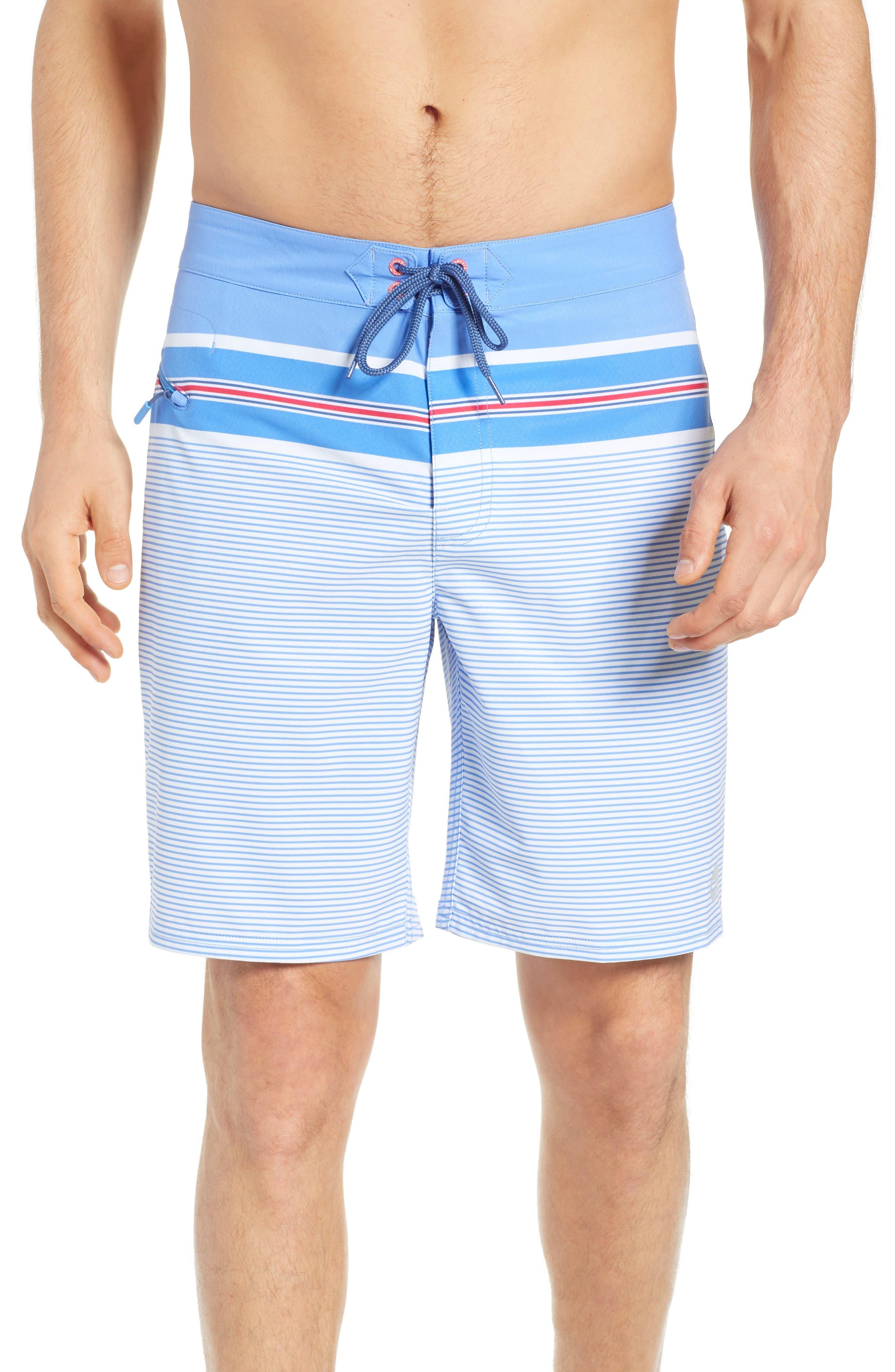 VINEYARD VINES,                             Birchcliff Stripe Board Shorts,                             Main thumbnail 1, color,                             484