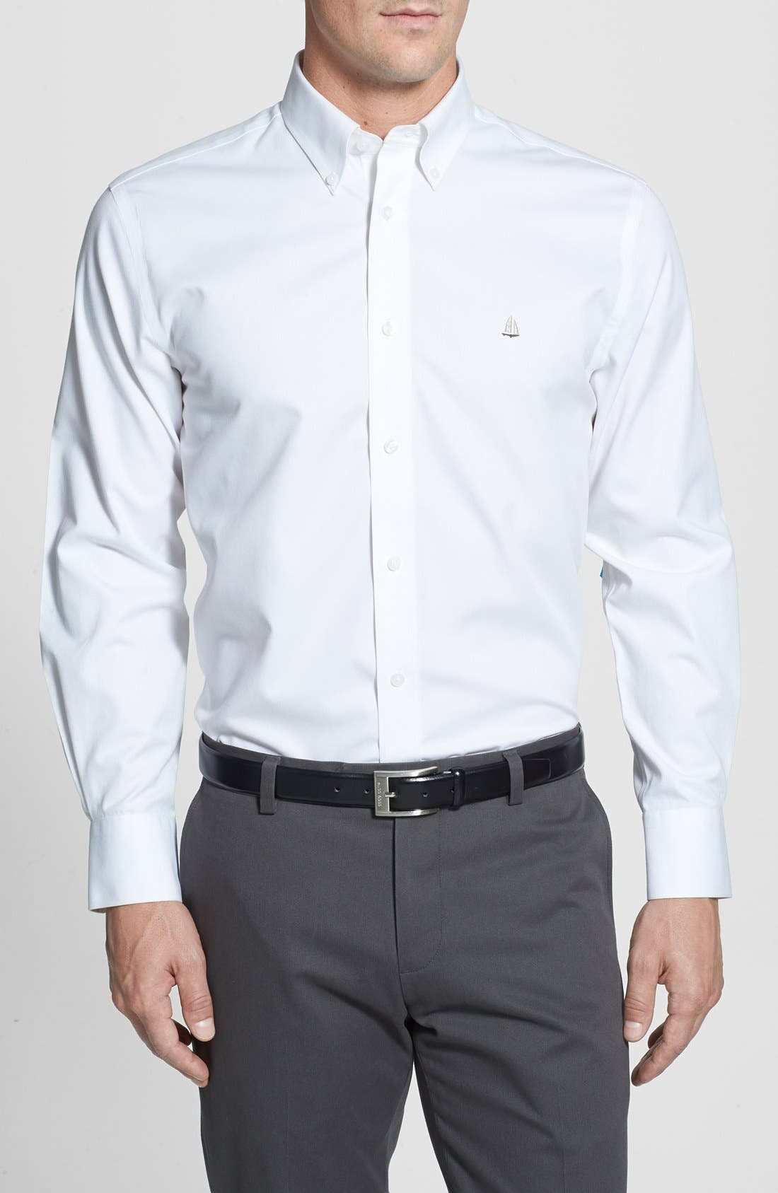 Smartcare<sup>™</sup> Traditional Fit Twill Boat Shirt,                             Main thumbnail 11, color,