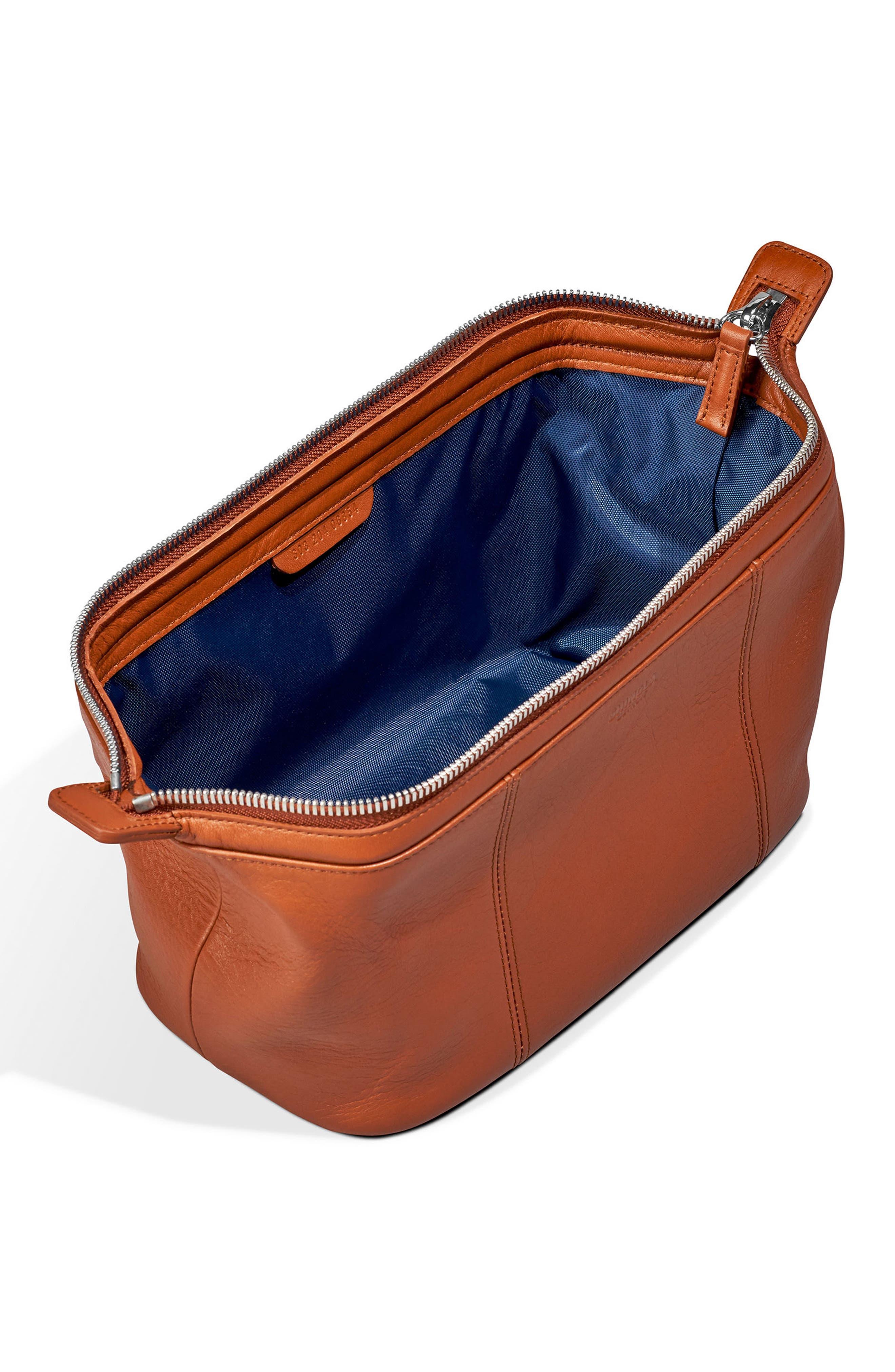 Leather Travel Kit,                             Alternate thumbnail 8, color,
