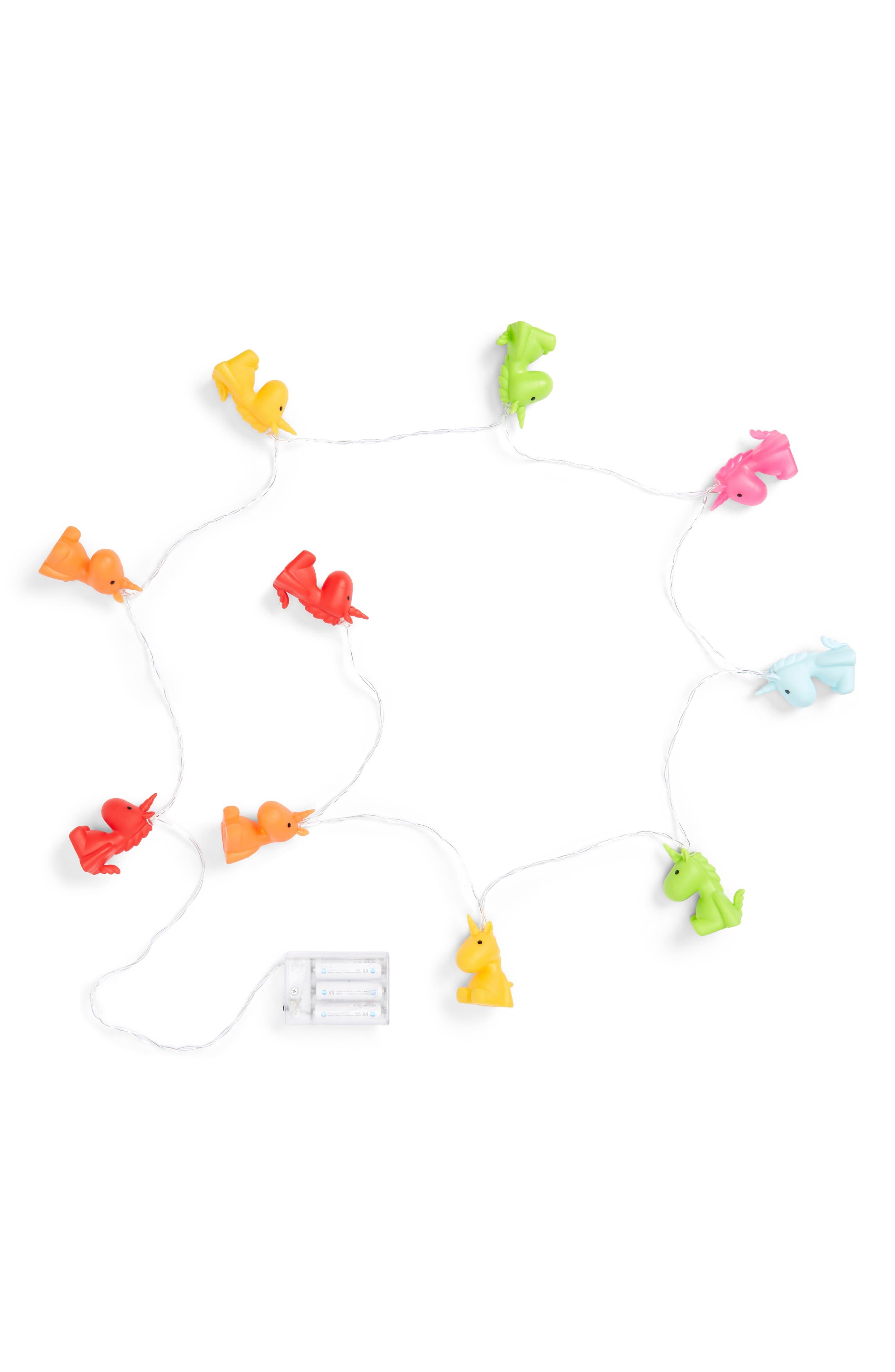 Unicorn Multicolor LED String Lights,                         Main,                         color, 650