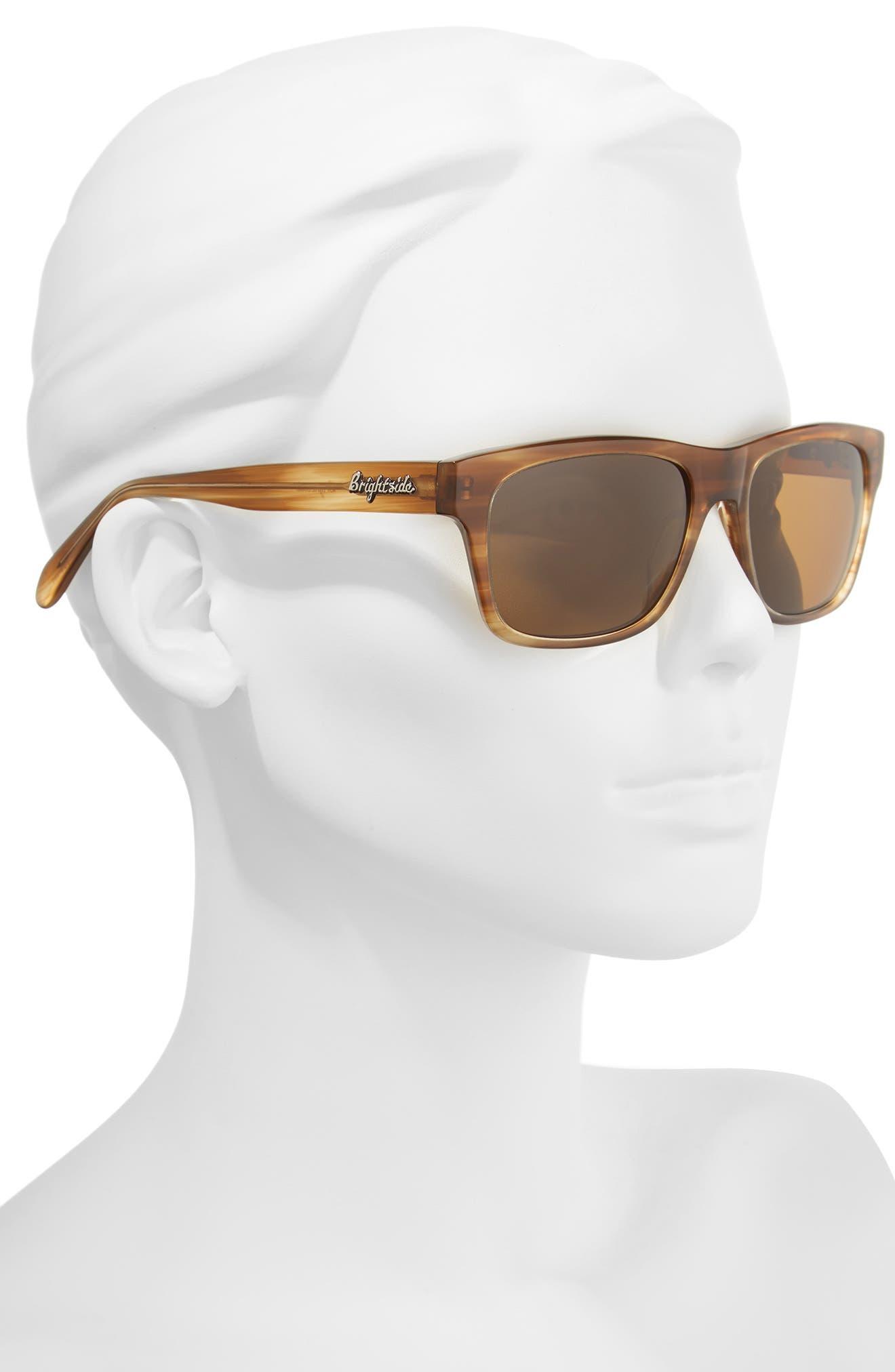 Wilshire 55mm Polarized Sunglasses,                             Alternate thumbnail 2, color,                             CEDAR/ BROWN POLAR
