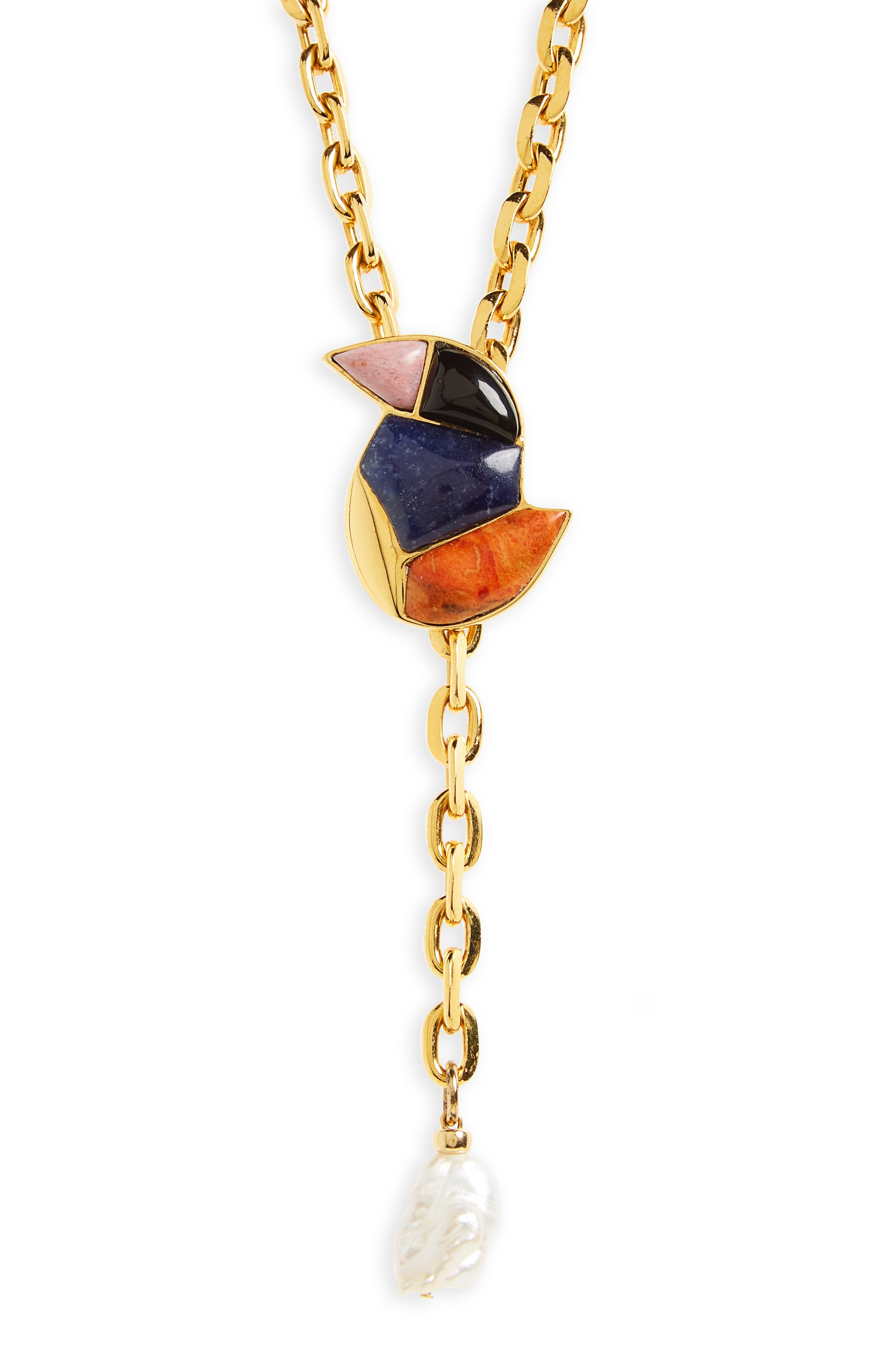 Songbird Chain Lariat,                             Alternate thumbnail 2, color,