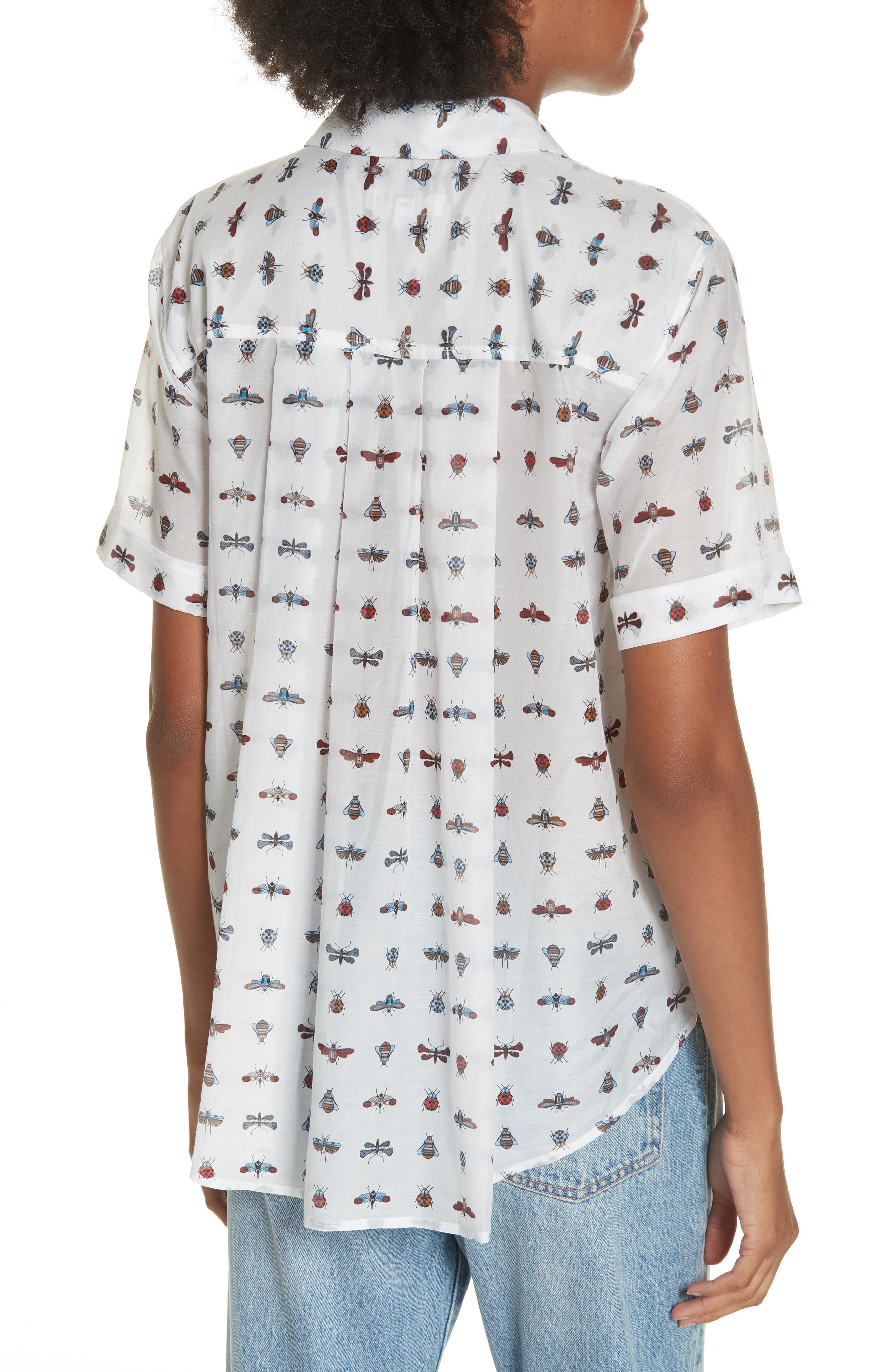 Elley Cotton & Silk Shirt,                             Alternate thumbnail 2, color,                             119