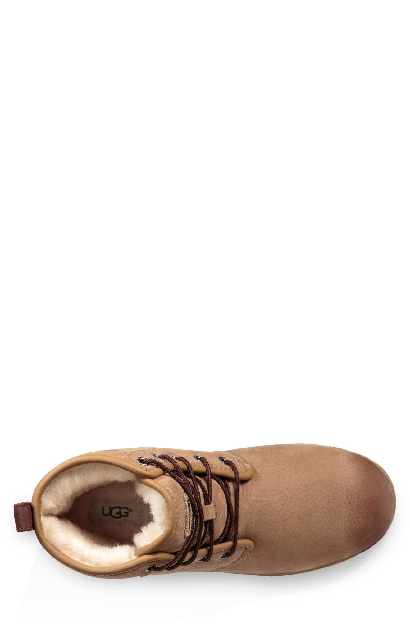 Harkley Waterproof Lace-Up Boot,                             Alternate thumbnail 4, color,                             DESERT TAN