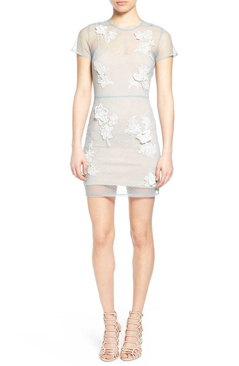 Lovers + Friends  Bianca  Mesh Overlay Body-Con Dress  9b7f6c98f25a