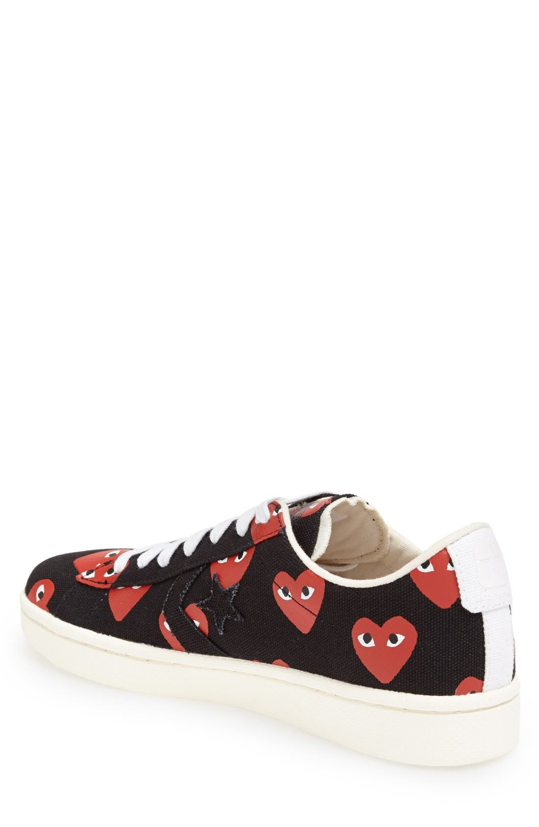 PLAY x Converse Chuck Taylor<sup>®</sup> Low Top Sneaker,                             Alternate thumbnail 2, color,                             001