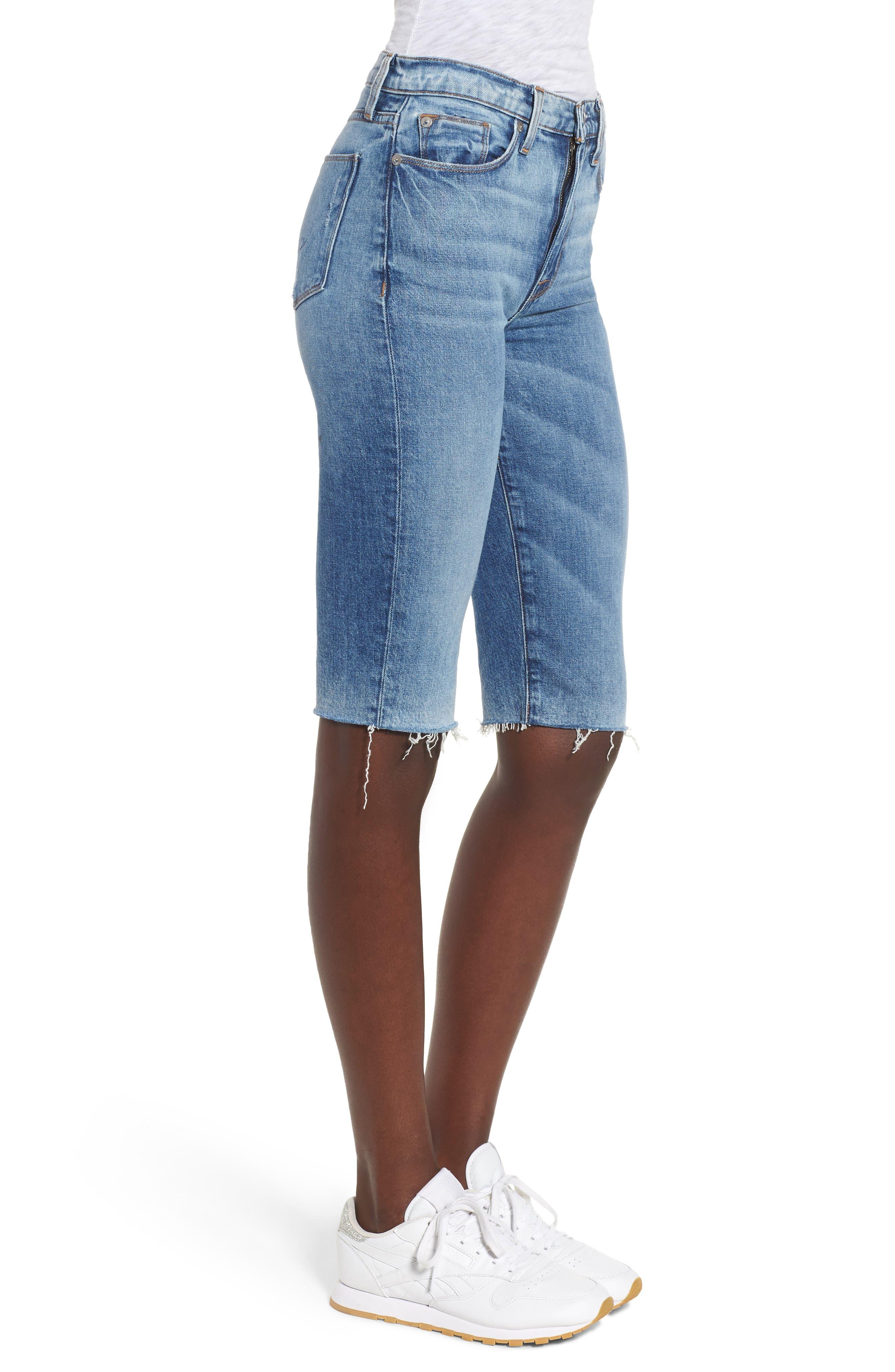 Zoeey High Waist Cutoff Boyfriend Shorts,                             Alternate thumbnail 3, color,                             JUST FOR KICKS